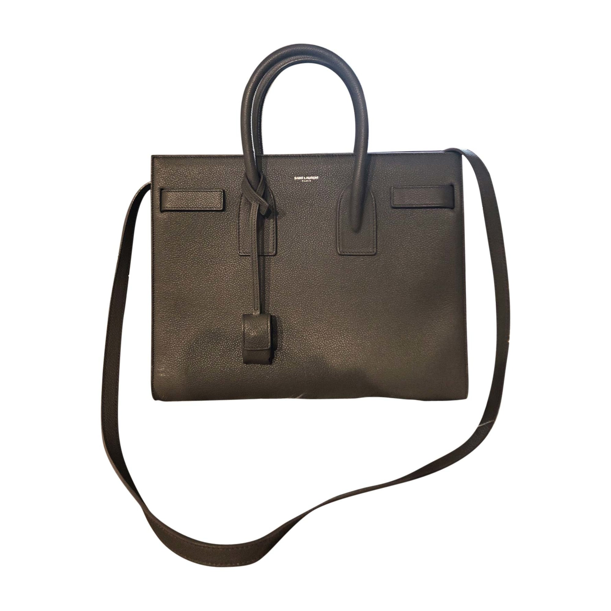 Leather Shoulder Bag SAINT LAURENT Gray, charcoal