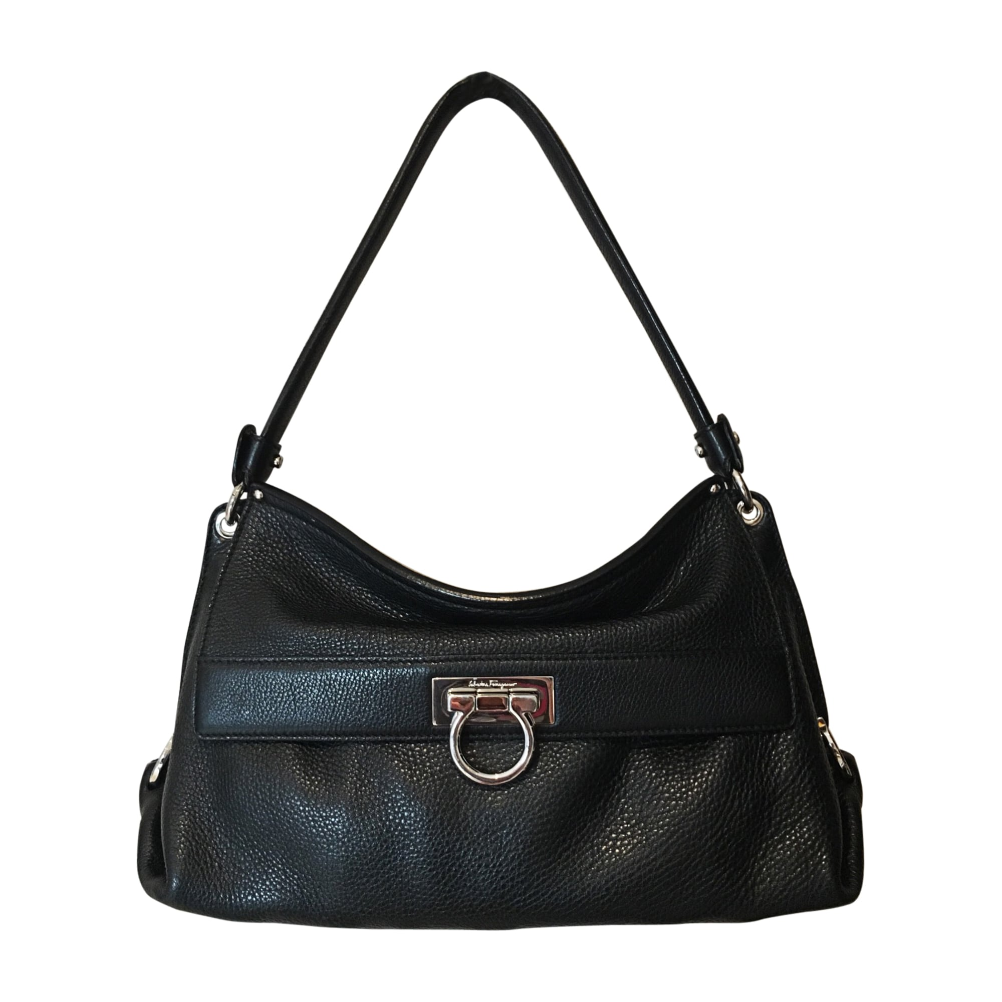 Leather Handbag SALVATORE FERRAGAMO black - 7748765 0c9ae9bcdd3a0