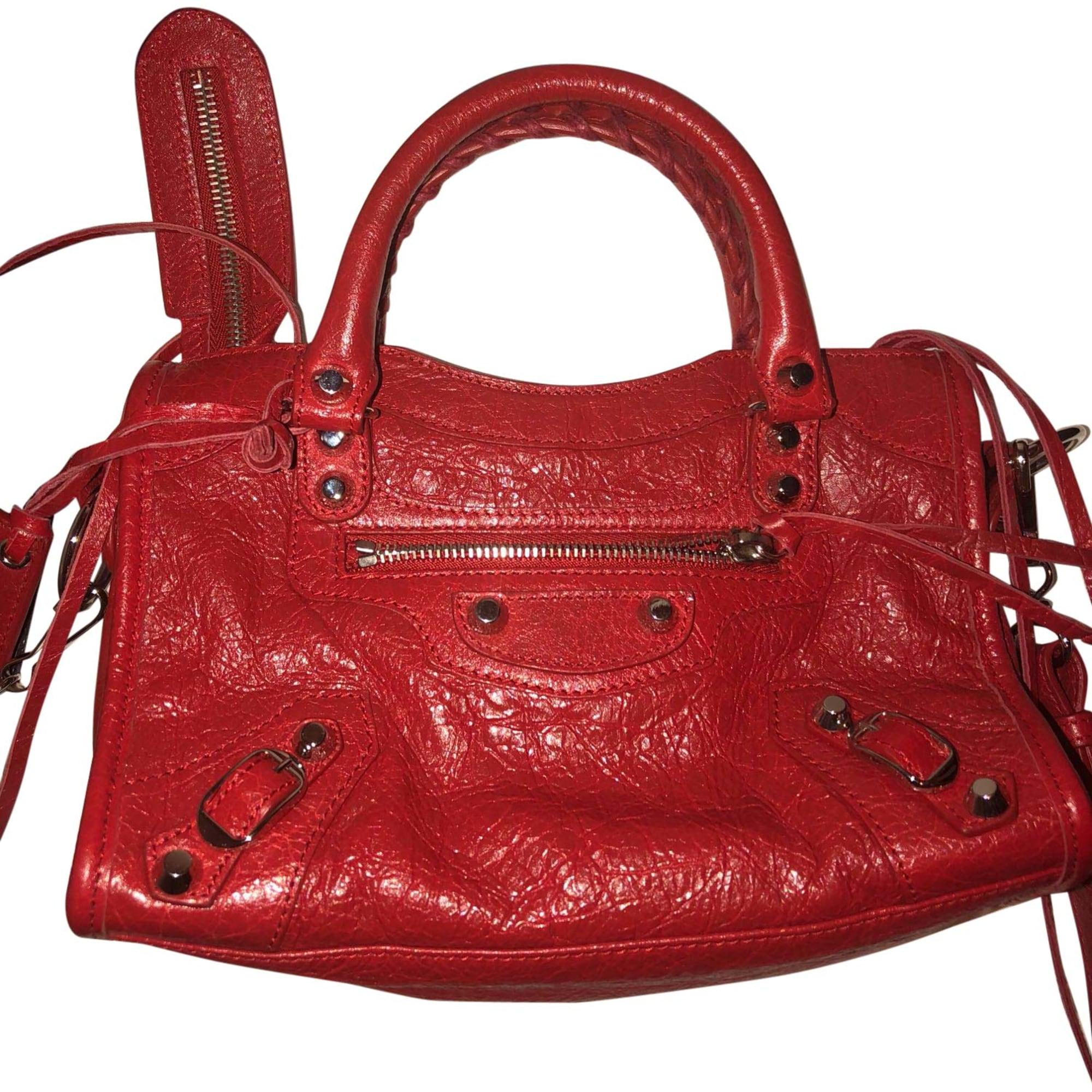 En Vendu Sandrine Par Sac Cuir Balenciaga Rouge Bandoulière jAL4R35