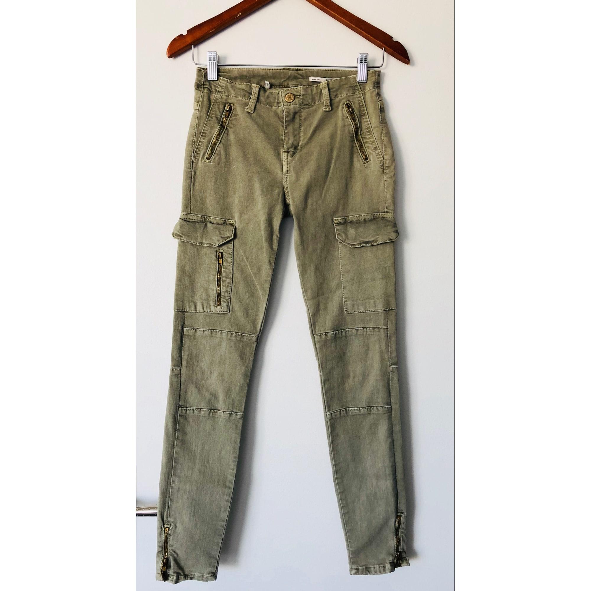 pantalon kaki femme slim zara
