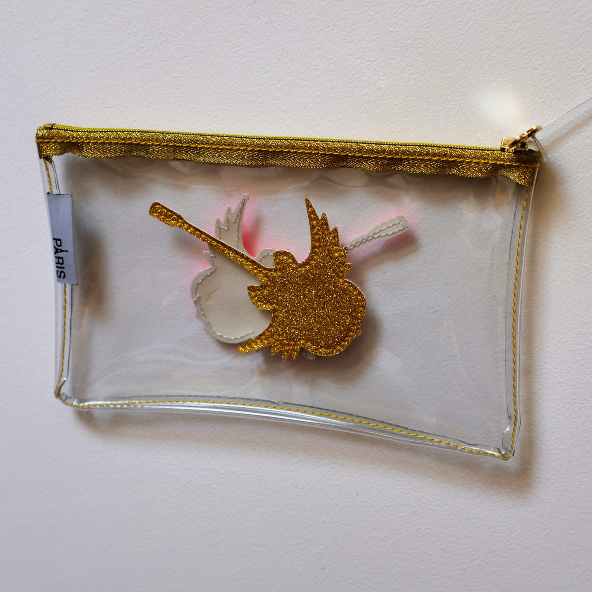 Pochette ANNE-CHARLOTTE GOUTAL plastique doré
