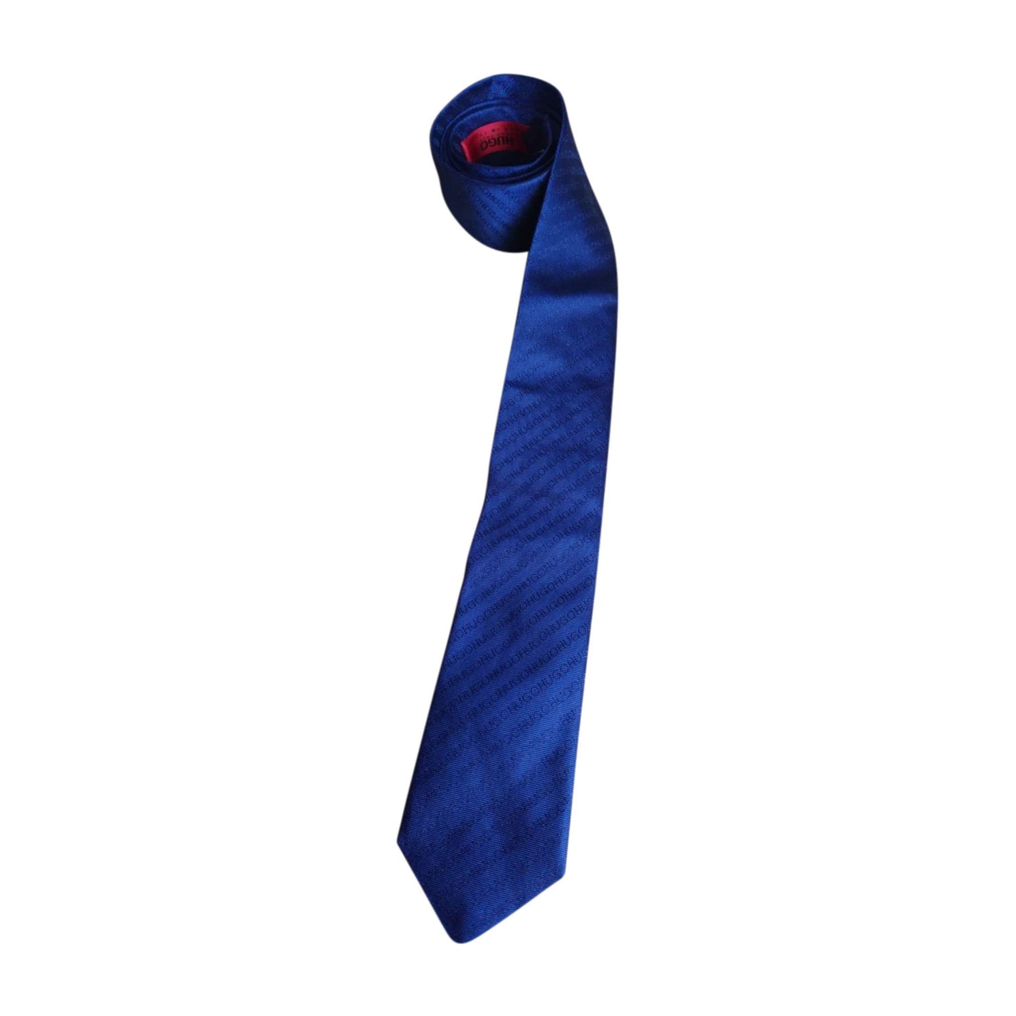 Tie HUGO BOSS Blue, navy, turquoise