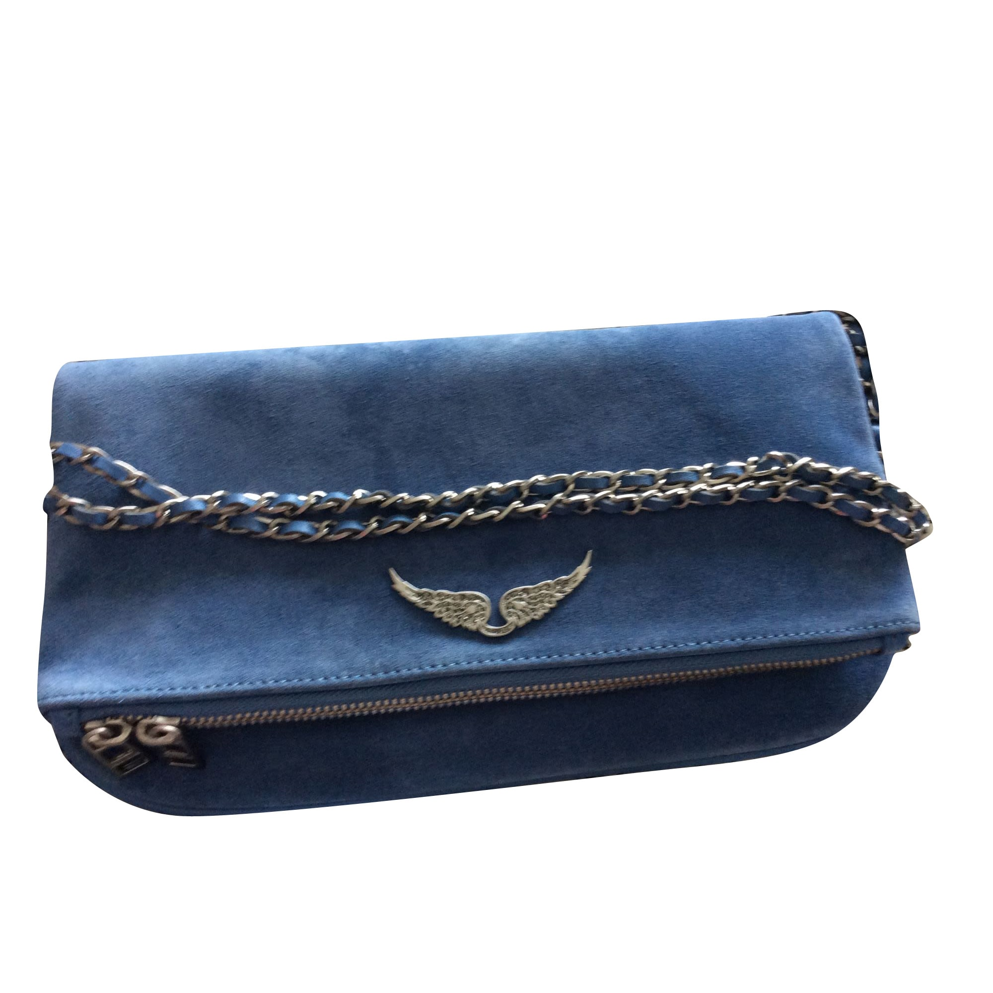 Leather Shoulder Bag ZADIG & VOLTAIRE Blue, navy, turquoise