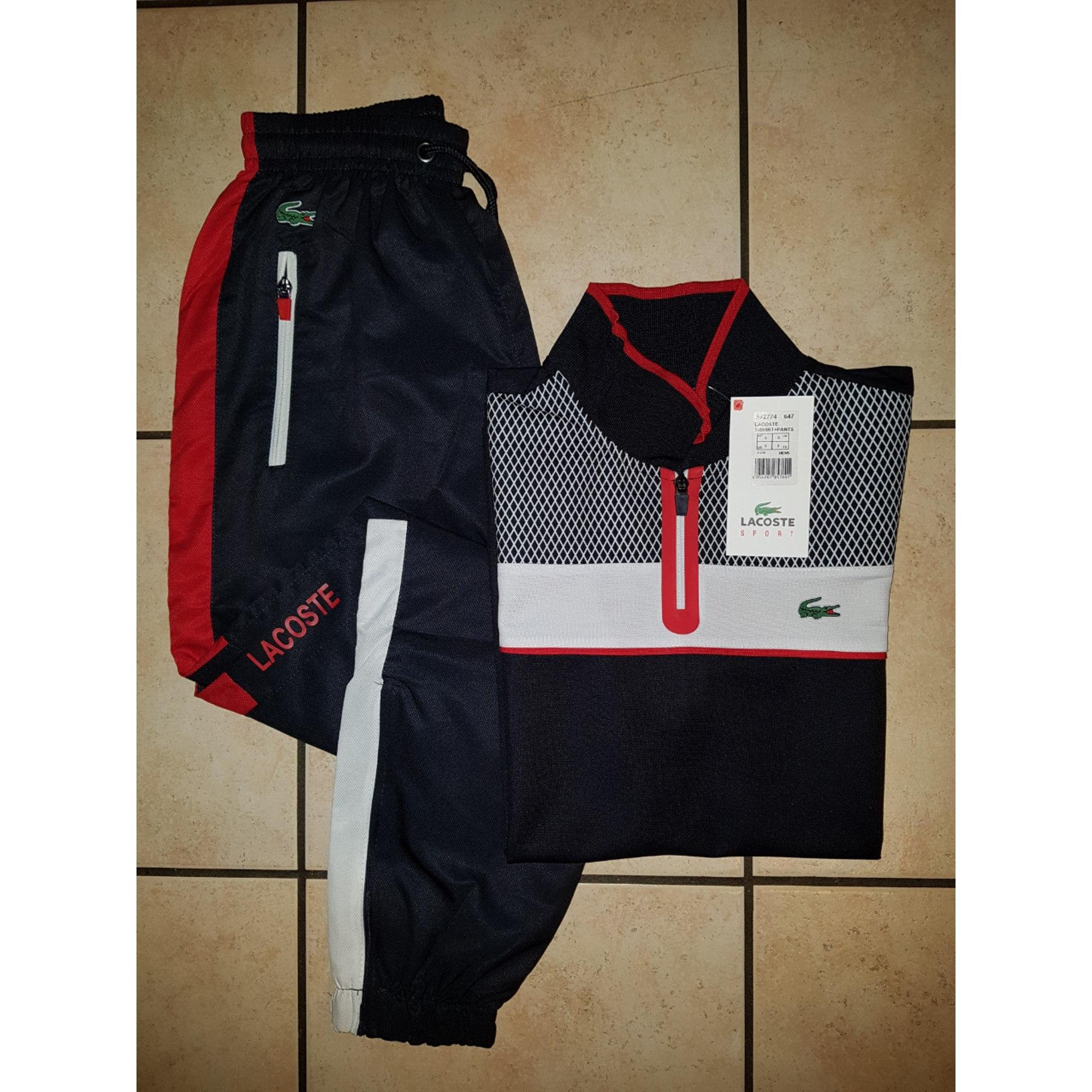 Ensemble jogging LACOSTE 42 rouge vendu par