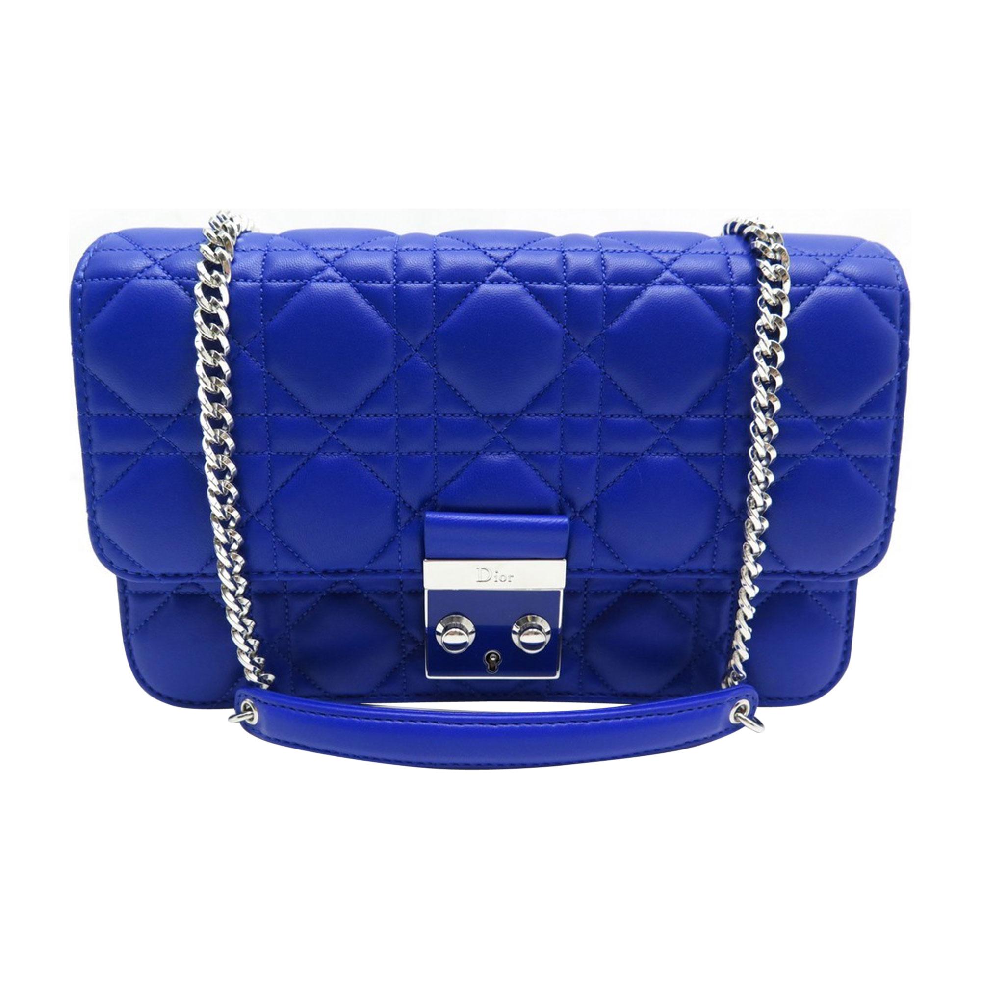 Leather Shoulder Bag DIOR Blue, navy, turquoise