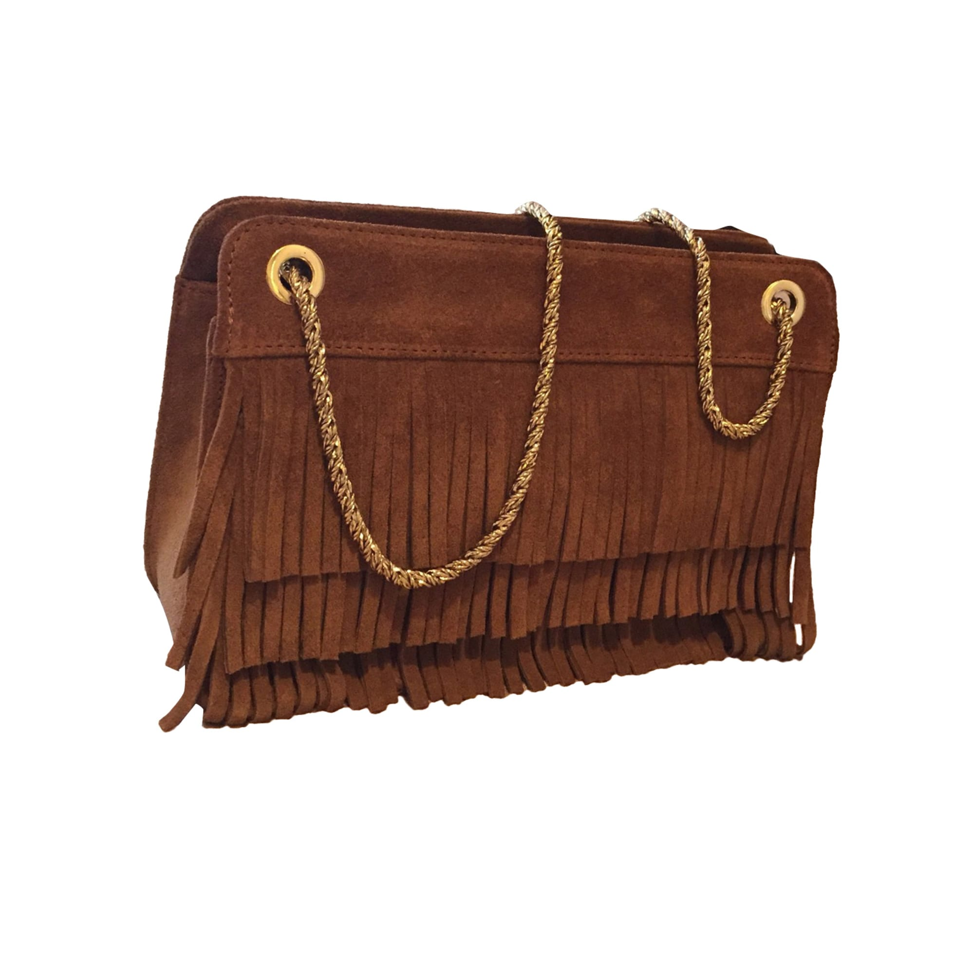 Leather Handbag SÉZANE Beige, camel