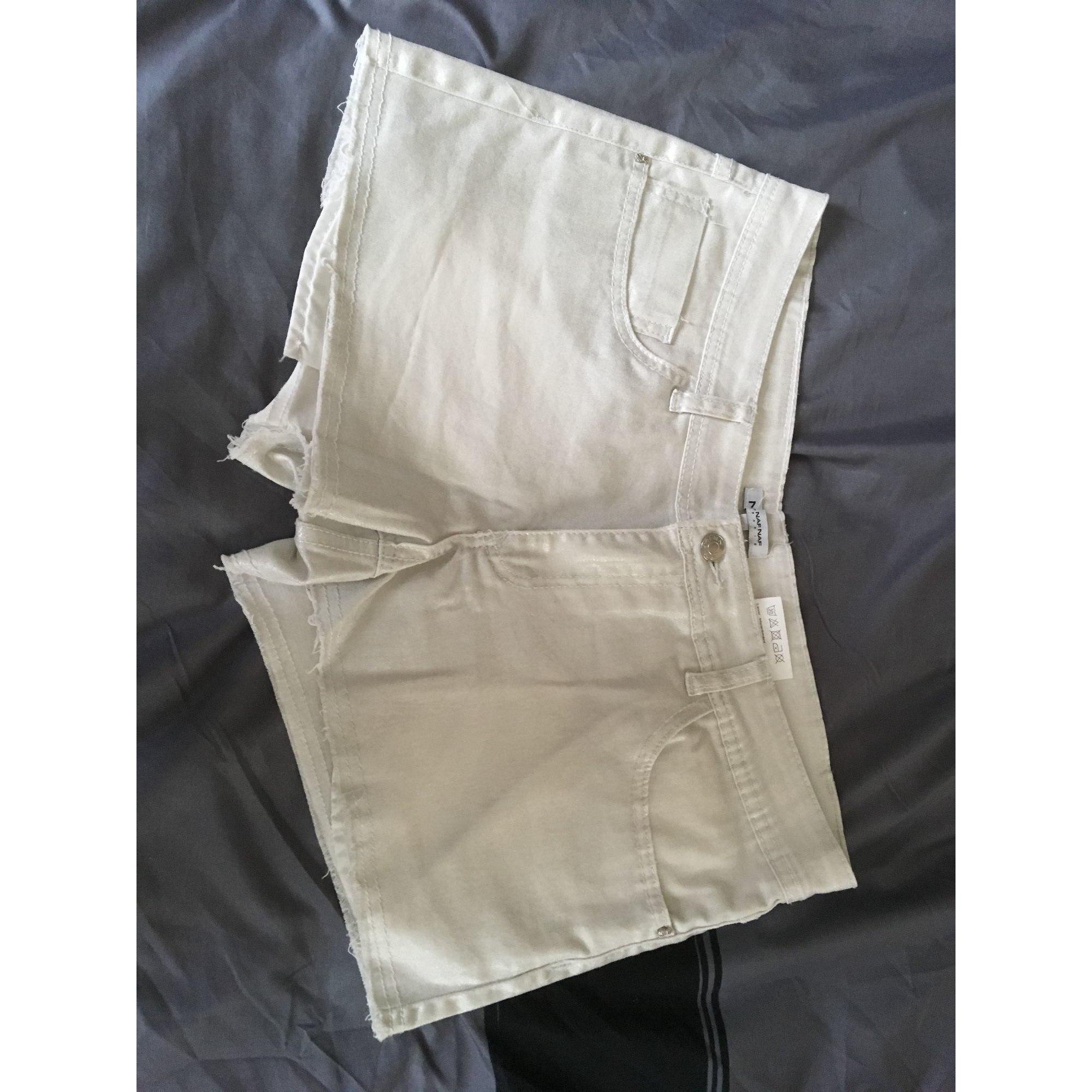Short NAF NAF Blanc, blanc cassé, écru