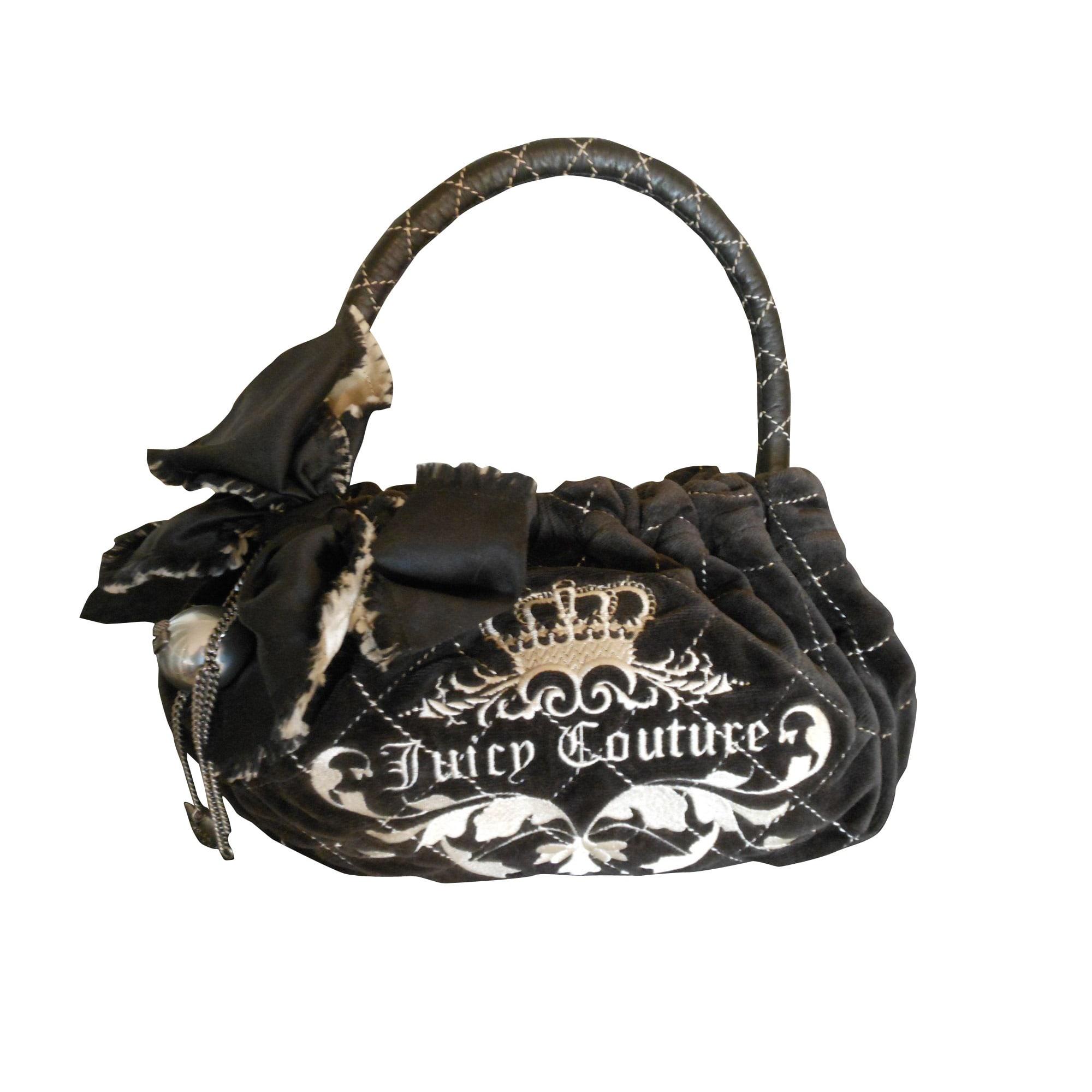 sac main en tissu juicy couture noir 7770210. Black Bedroom Furniture Sets. Home Design Ideas