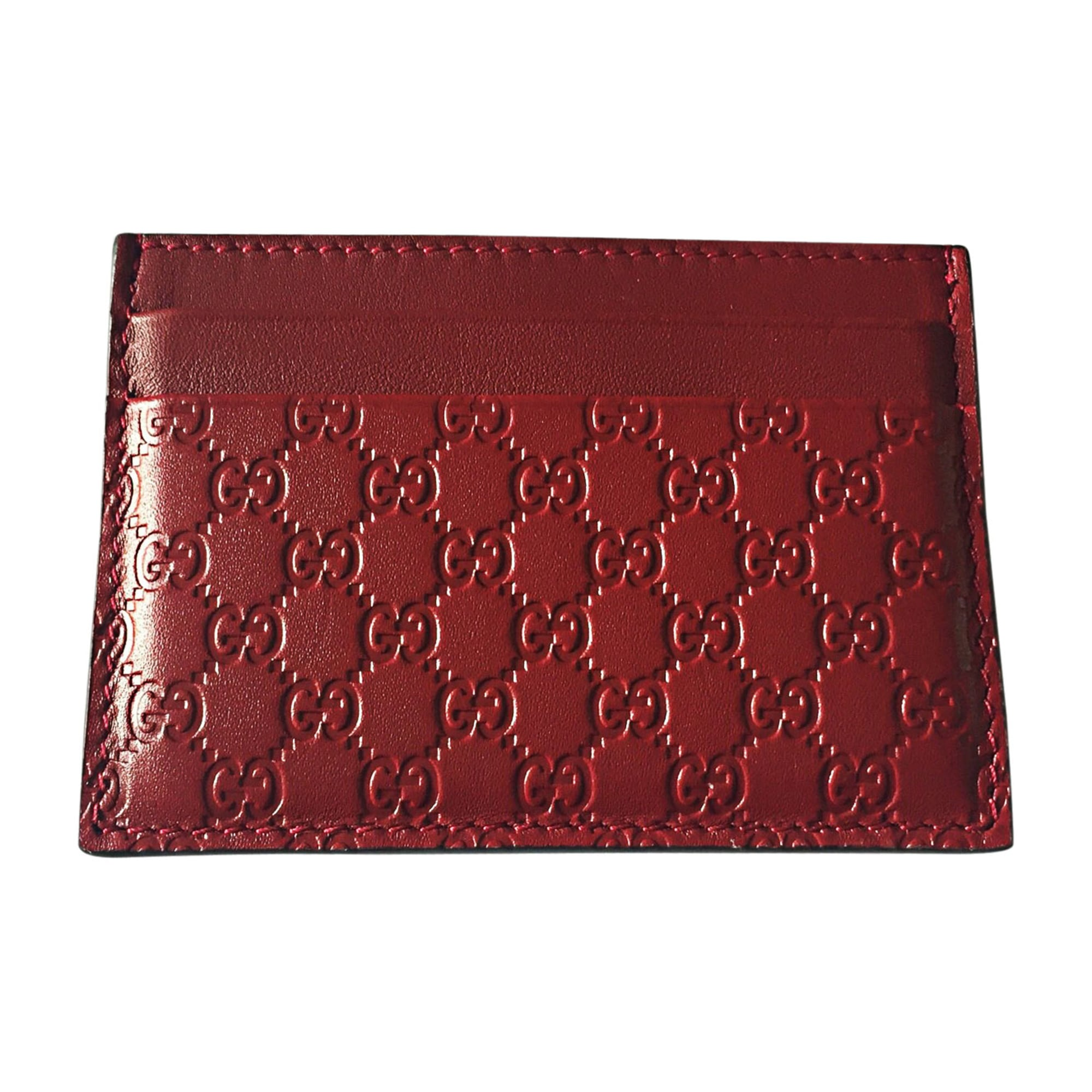 Wallet GUCCI Red, burgundy