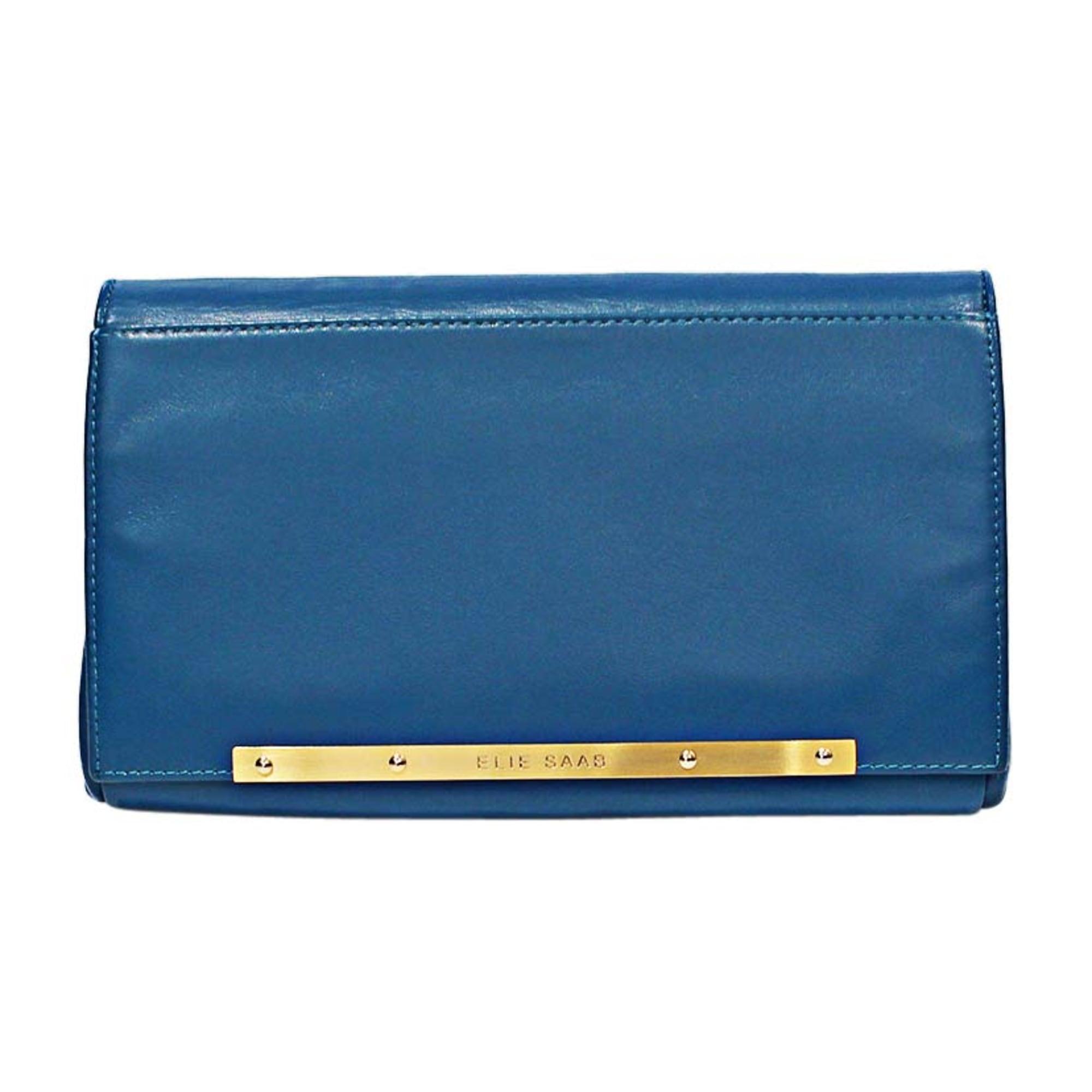 Sac pochette en cuir ELIE SAAB cuir bleu