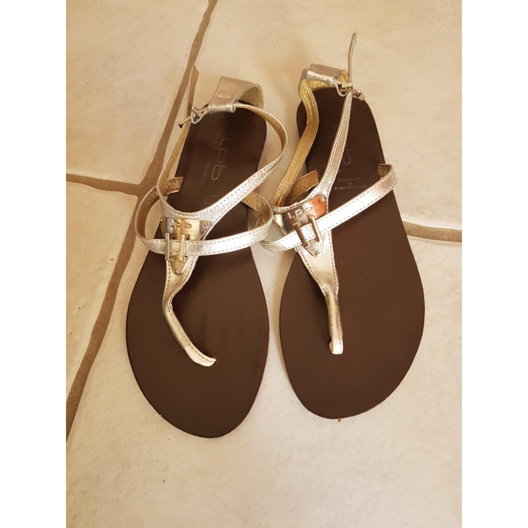 Sandales plates LES PETITES BOMBES 39 argenté vendu par Sasca - 7780082 991eb43dc68a