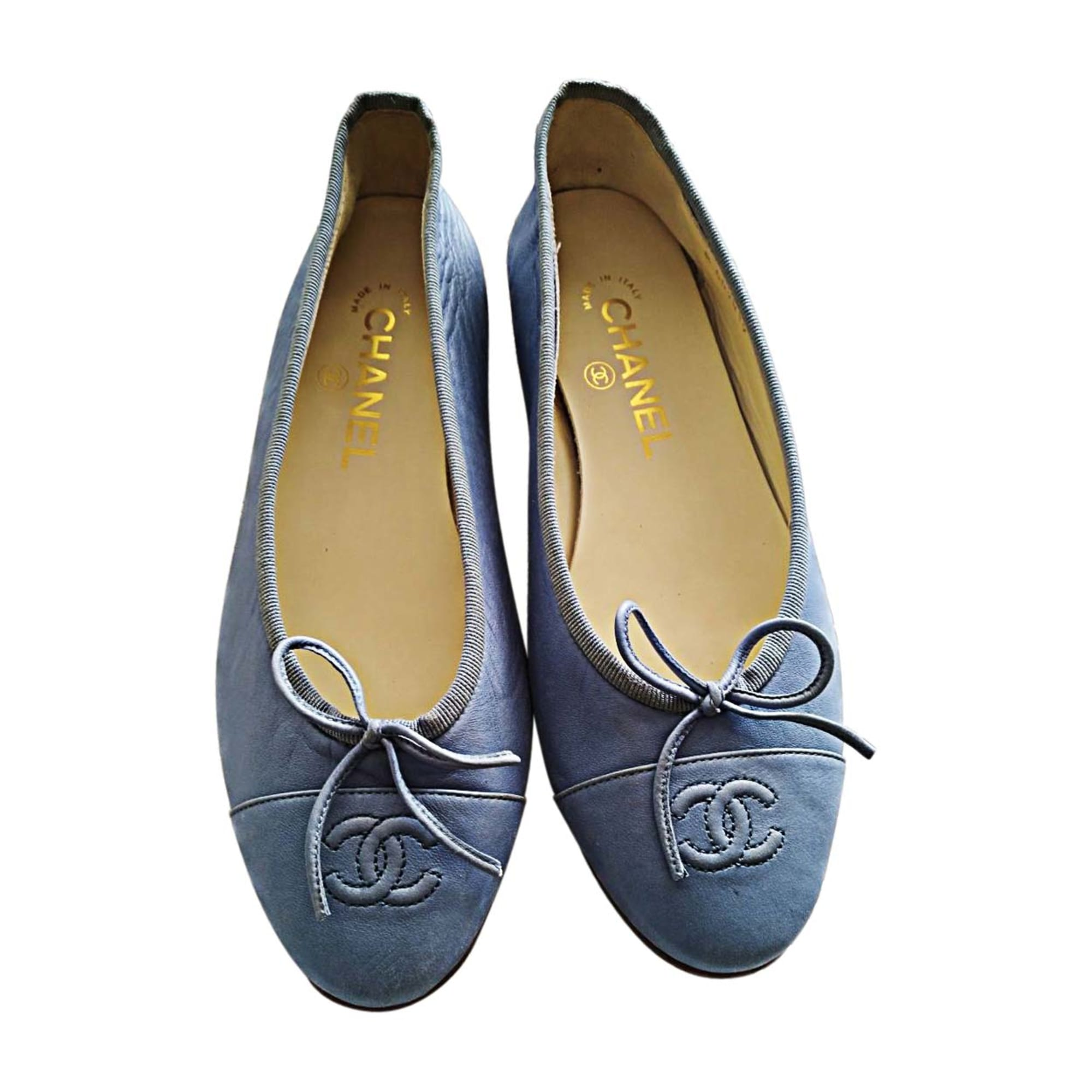 Ballet Flats CHANEL Blue, navy, turquoise