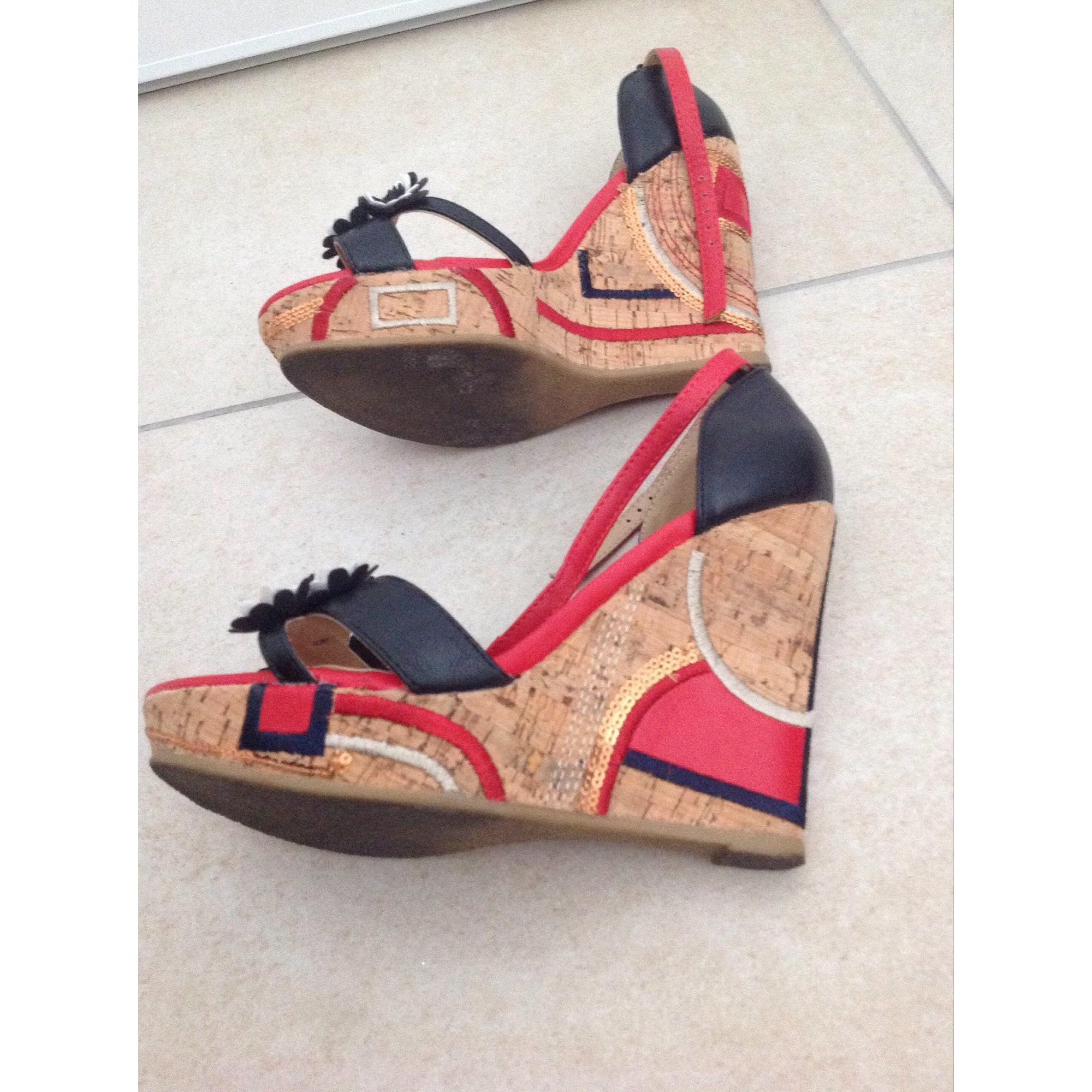 chaussures de sport lacer dans marque populaire 37 By Closer Chaussea 7793844 Multicouleur Compensées ...