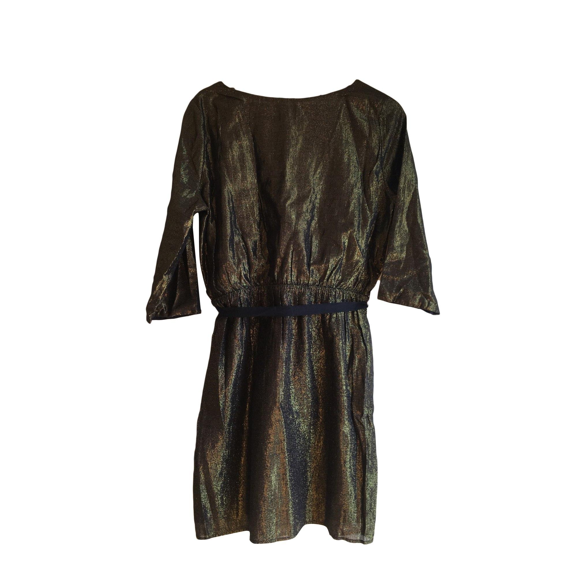 Midi Dress DES PETITS HAUTS Golden, bronze, copper