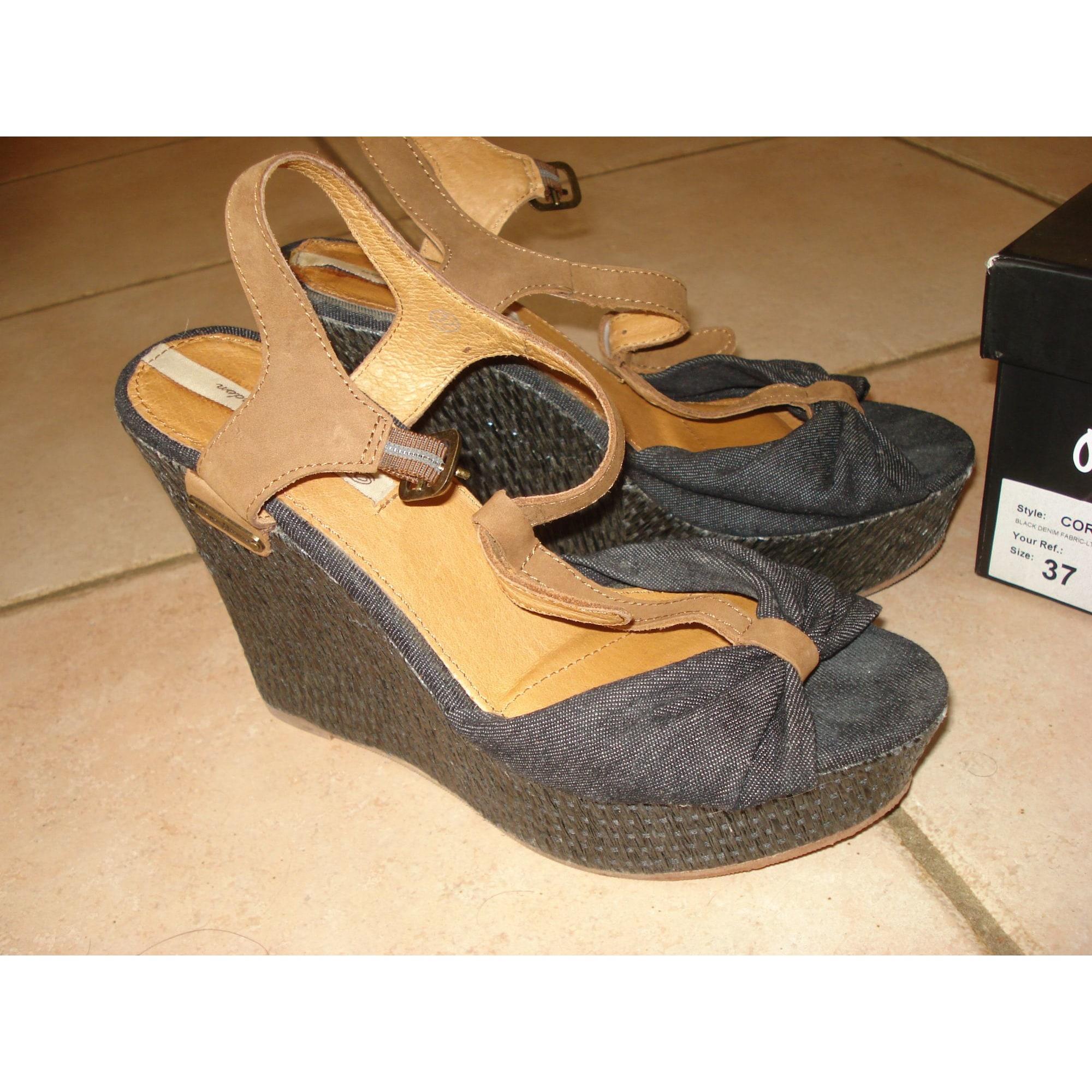 Sandales compensées PEPE JEANS Bleu, bleu marine, bleu turquoise