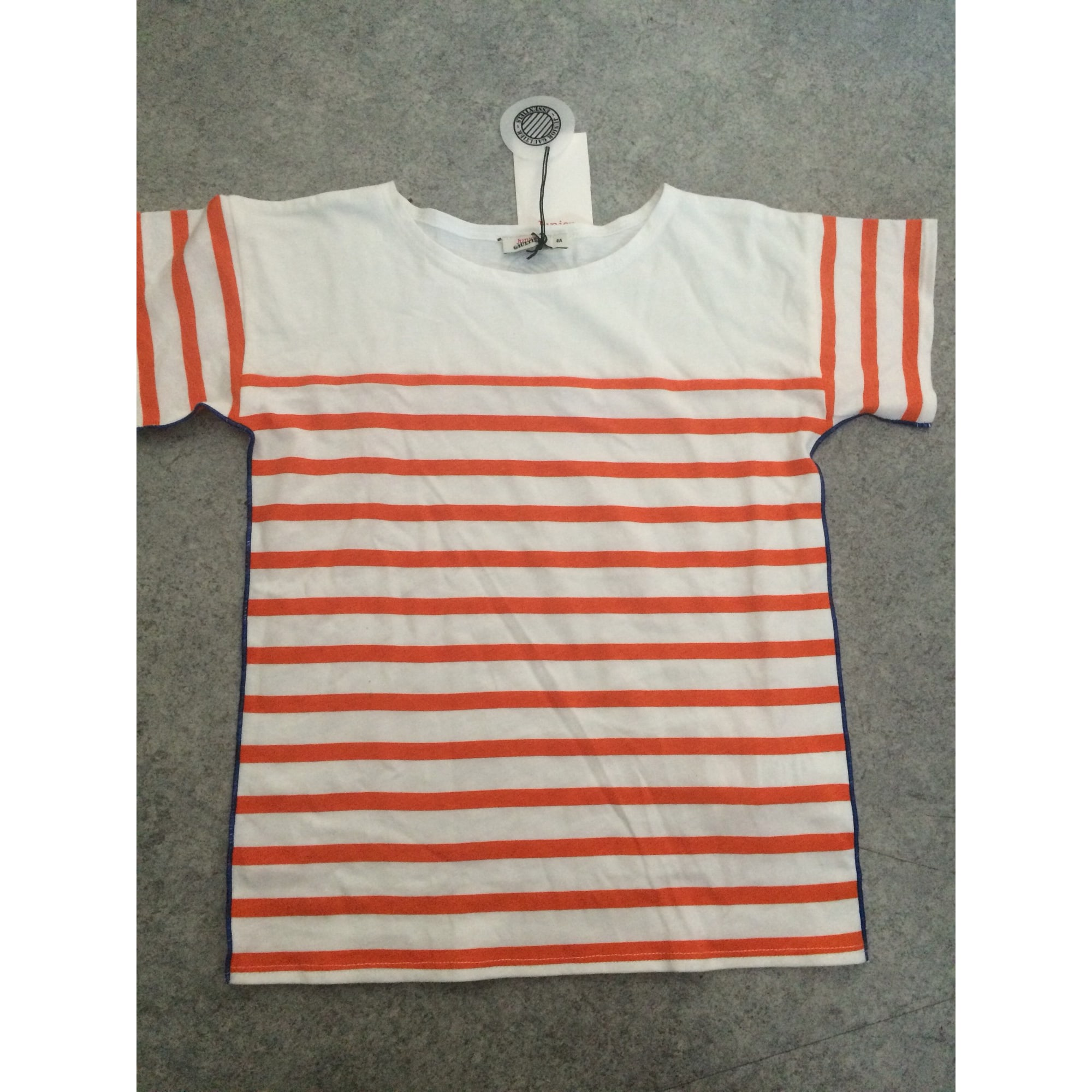 Top, Tee-shirt JEAN PAUL GAULTIER coton orange 7-8 ans