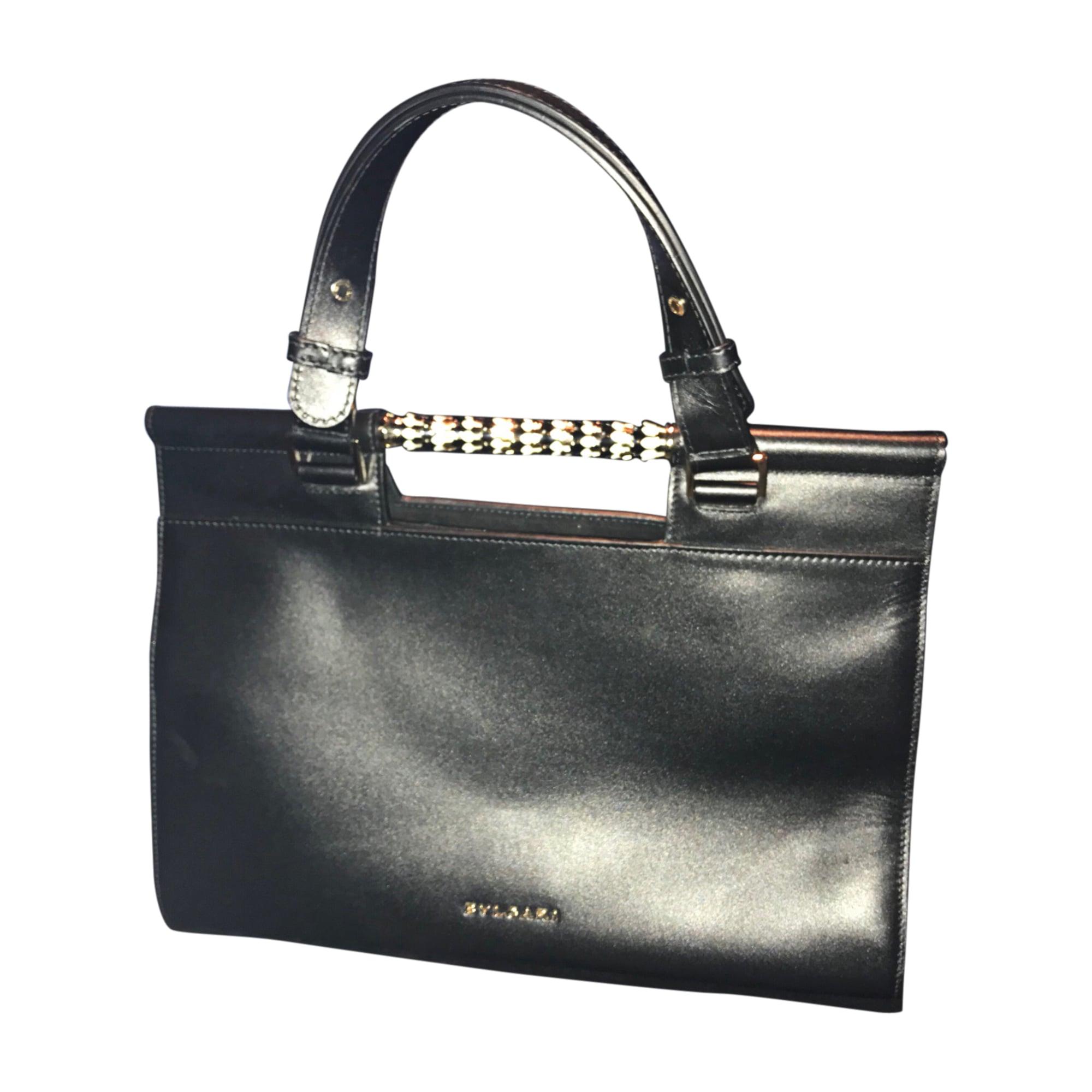 Leather Handbag BULGARI Black