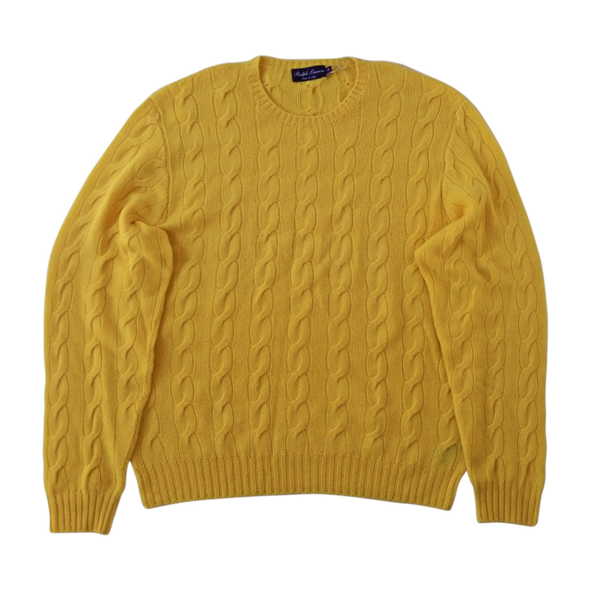Pull RALPH LAUREN 5 (XXL) jaune - 7816125 68ba90379b3