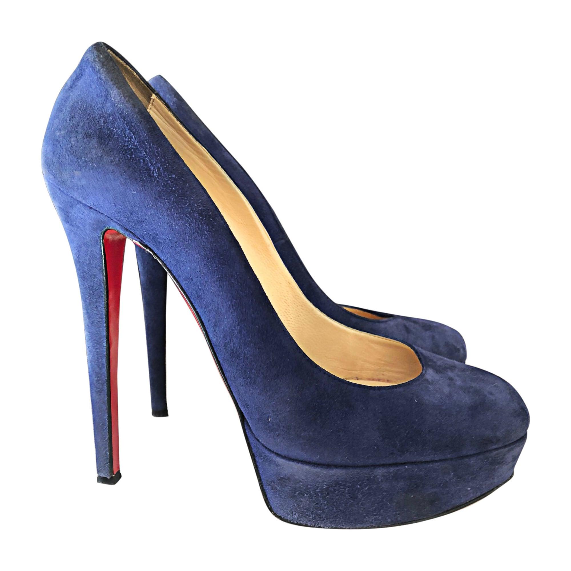 Escarpins compensés CHRISTIAN LOUBOUTIN Bleu, bleu marine, bleu turquoise