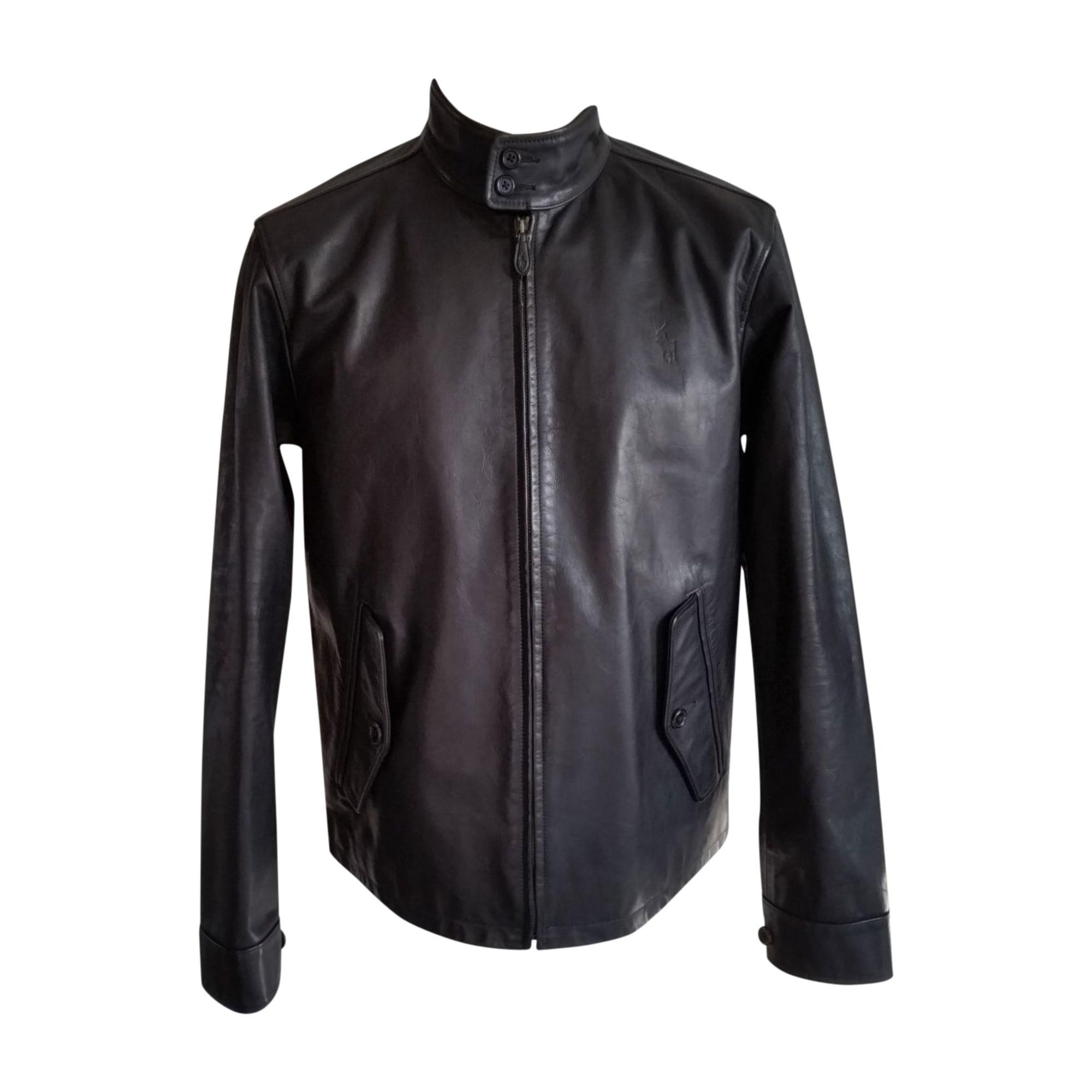53ebb22107b Veste en cuir RALPH LAUREN 52 (L) noir - 7821625