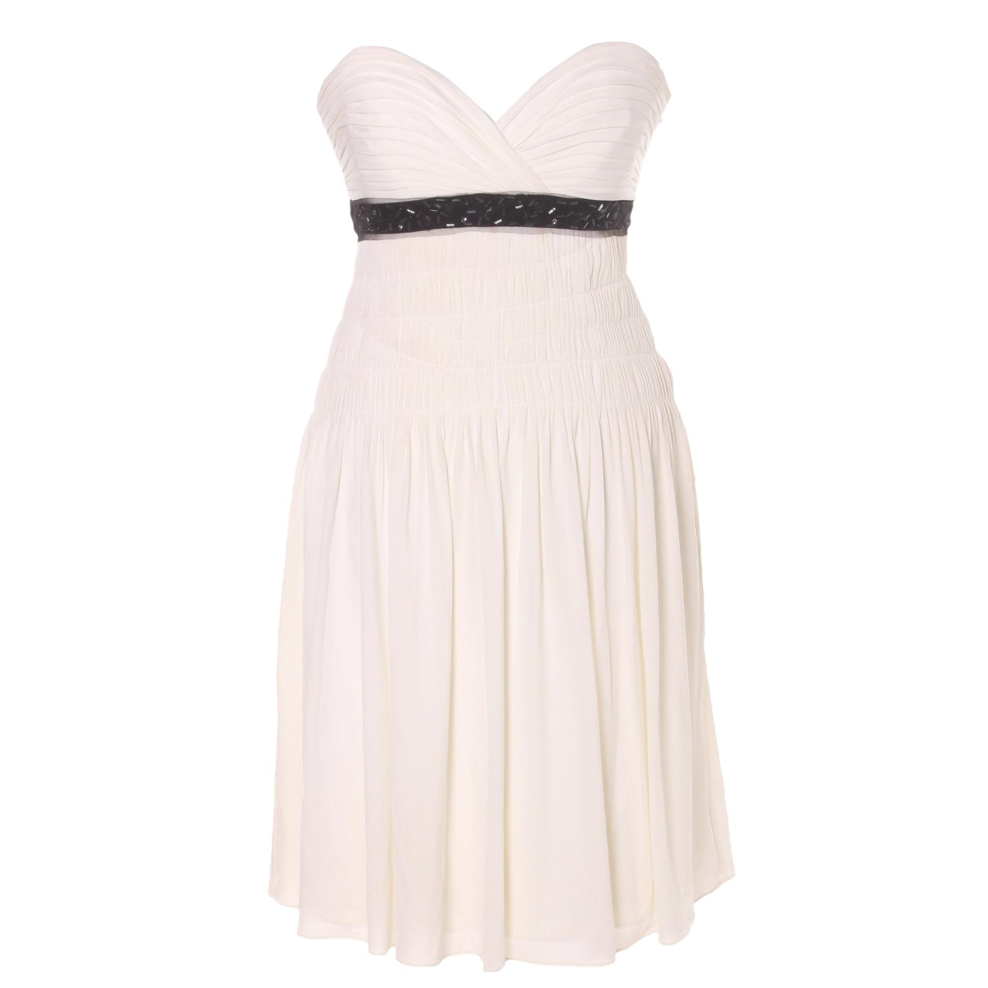 Corset Dress BCBG MAX AZRIA 34 (XS, T0) white - 7828044