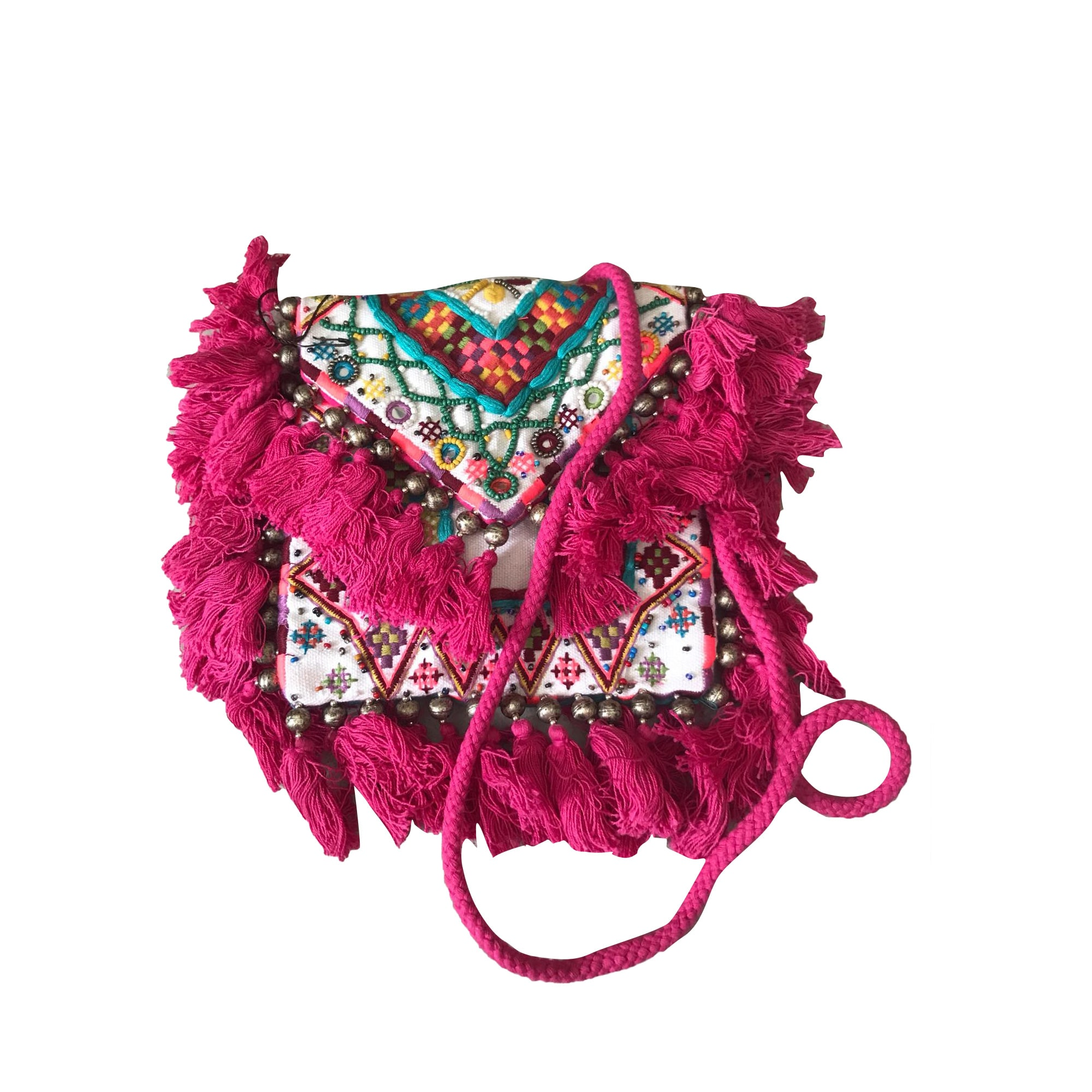 Non-Leather Shoulder Bag ANTIK BATIK Pink, fuchsia, light pink