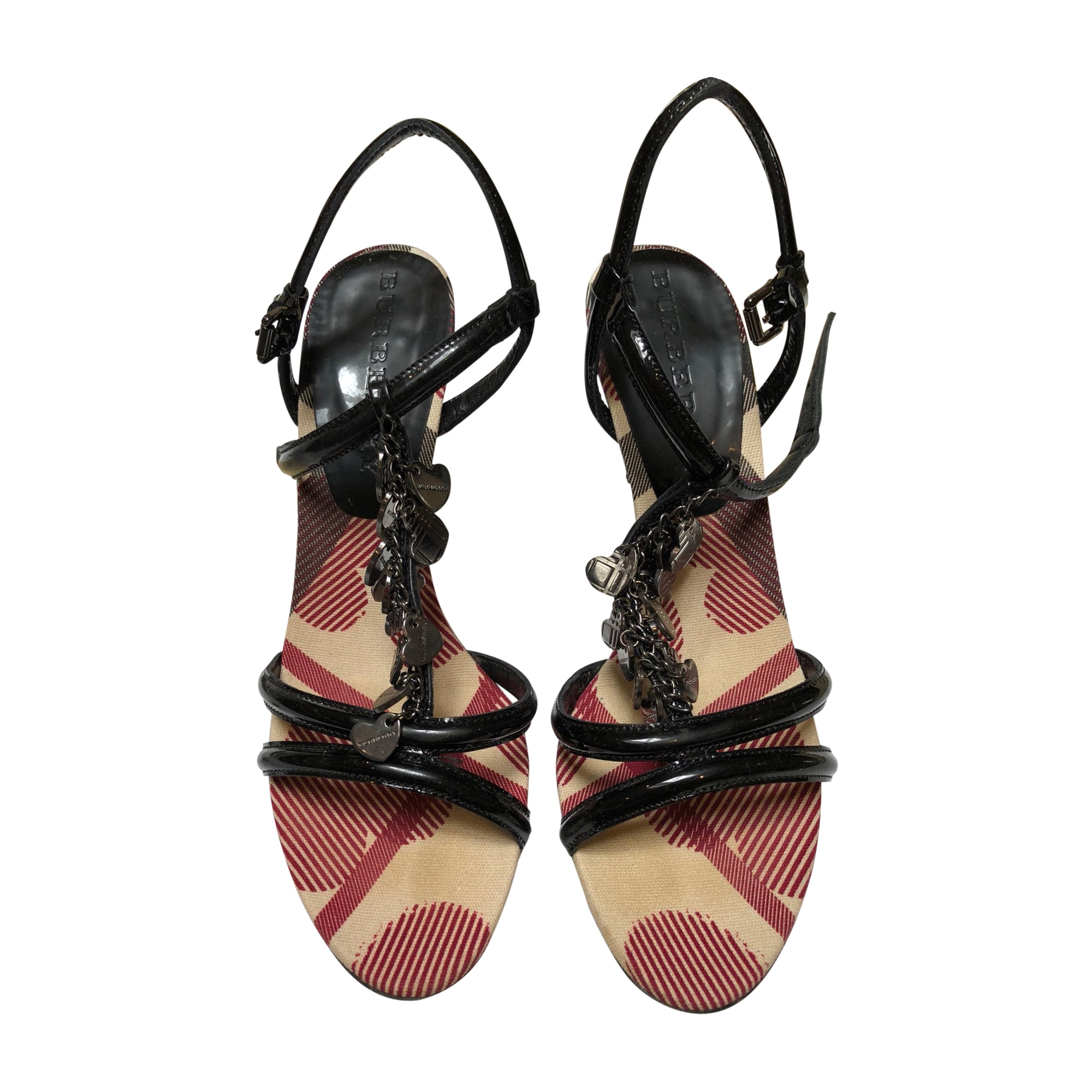 Sandales à talons BURBERRY Noir