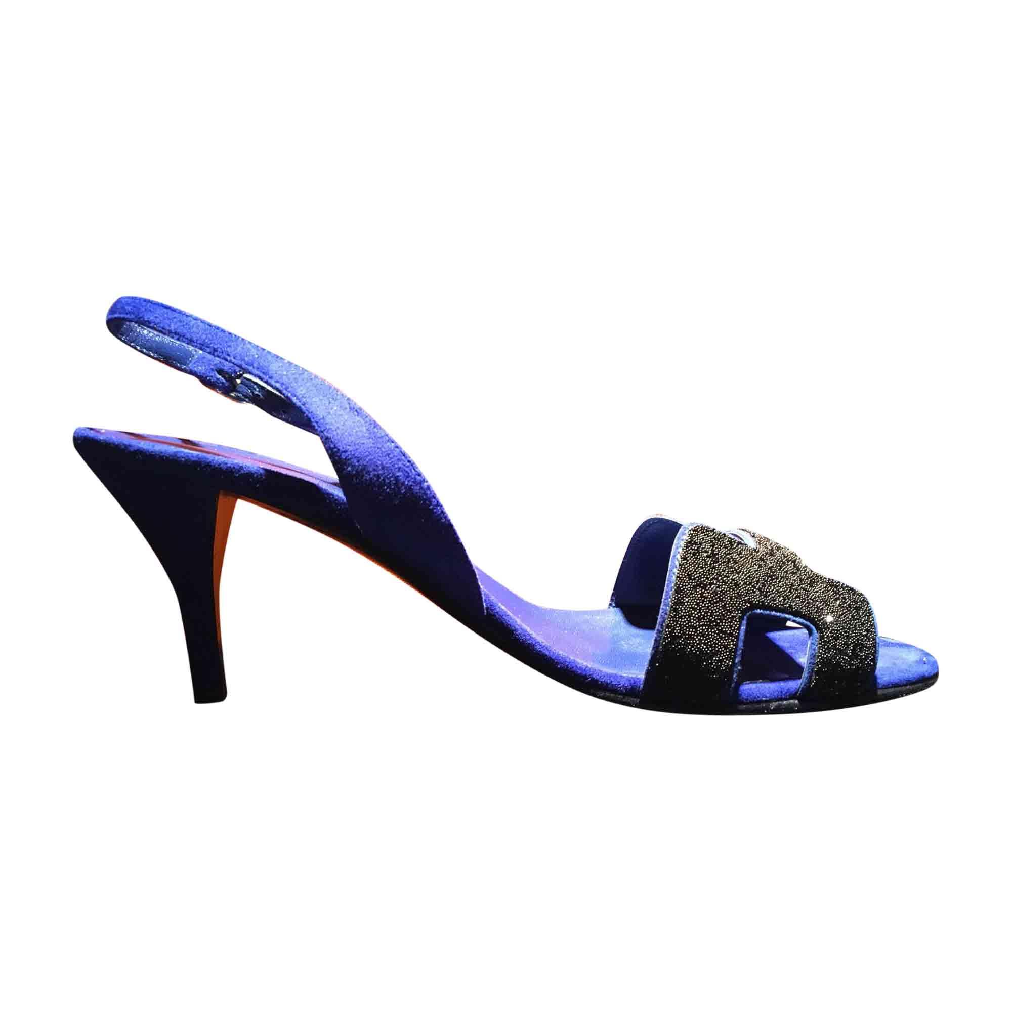 38 7836453 Hermès À Bleu Sandales Talons sxhrQtdC