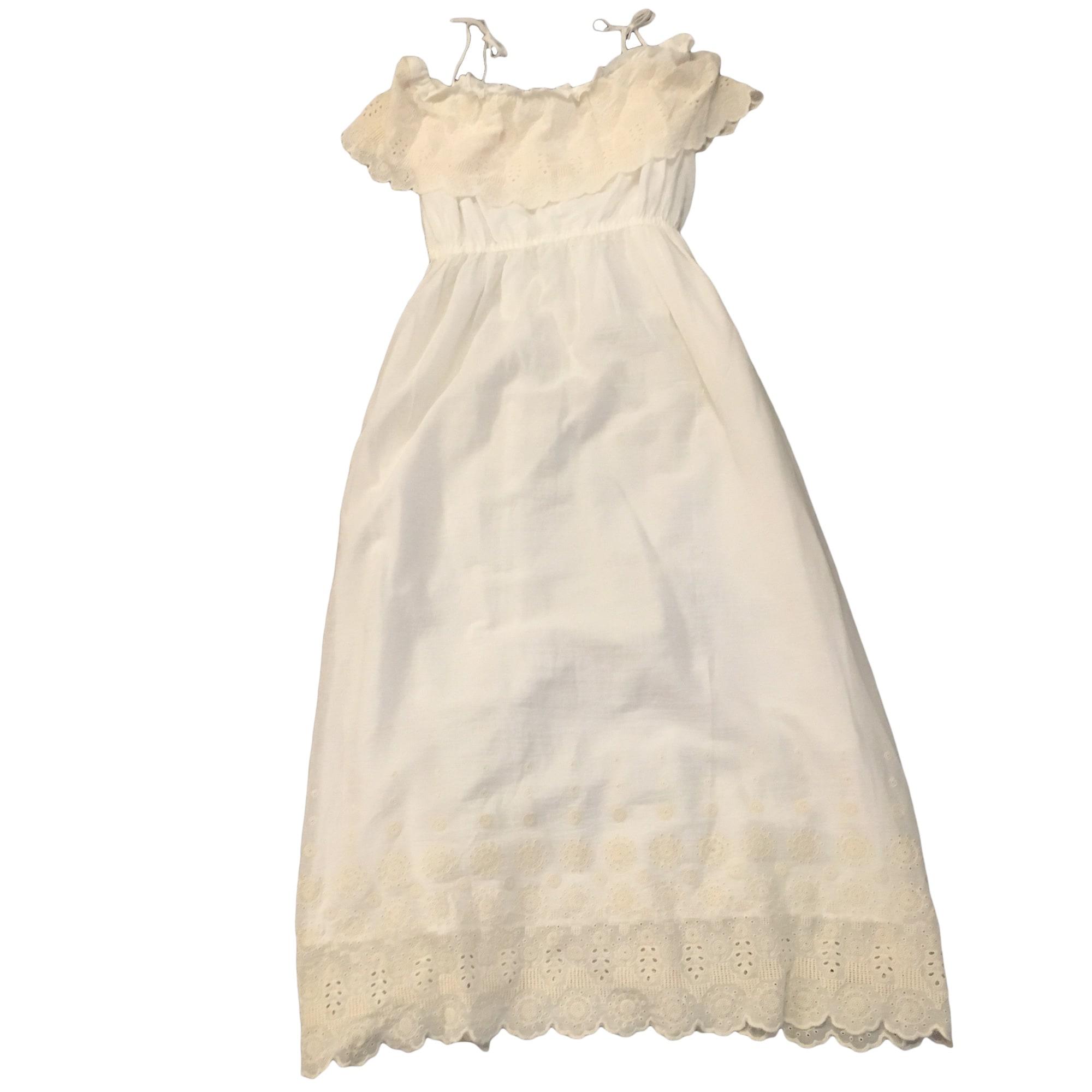 Robe longue comptoir des cotonniers 42 l xl t4 blanc - Robe longue comptoir des cotonniers ...