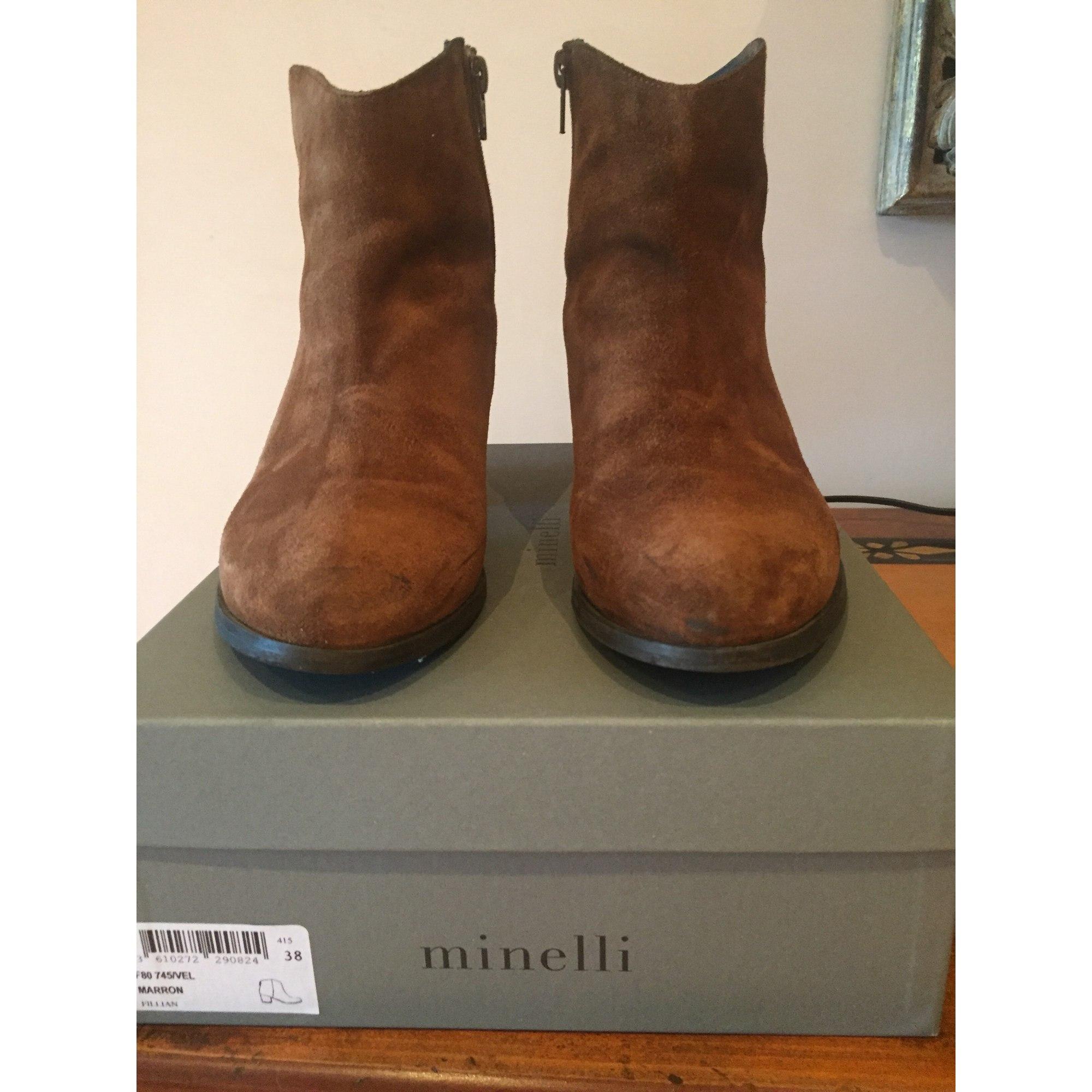 Santiags, bottines, low MINELLI Stiefel cowboy MINELLI low 38 marron 7839092 ff4e23