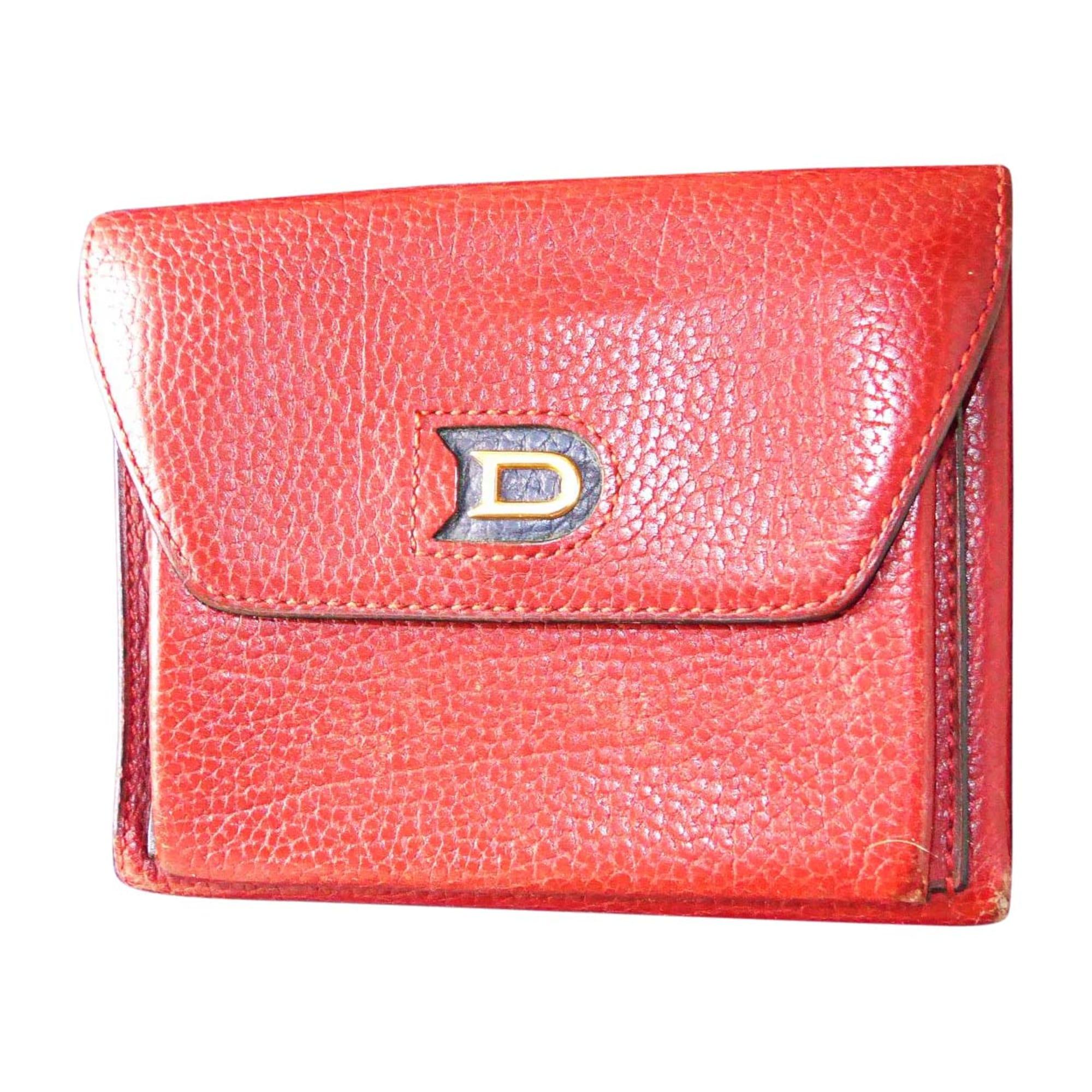 021d40ecdd00 Portefeuille DELVAUX rouge - 7840431