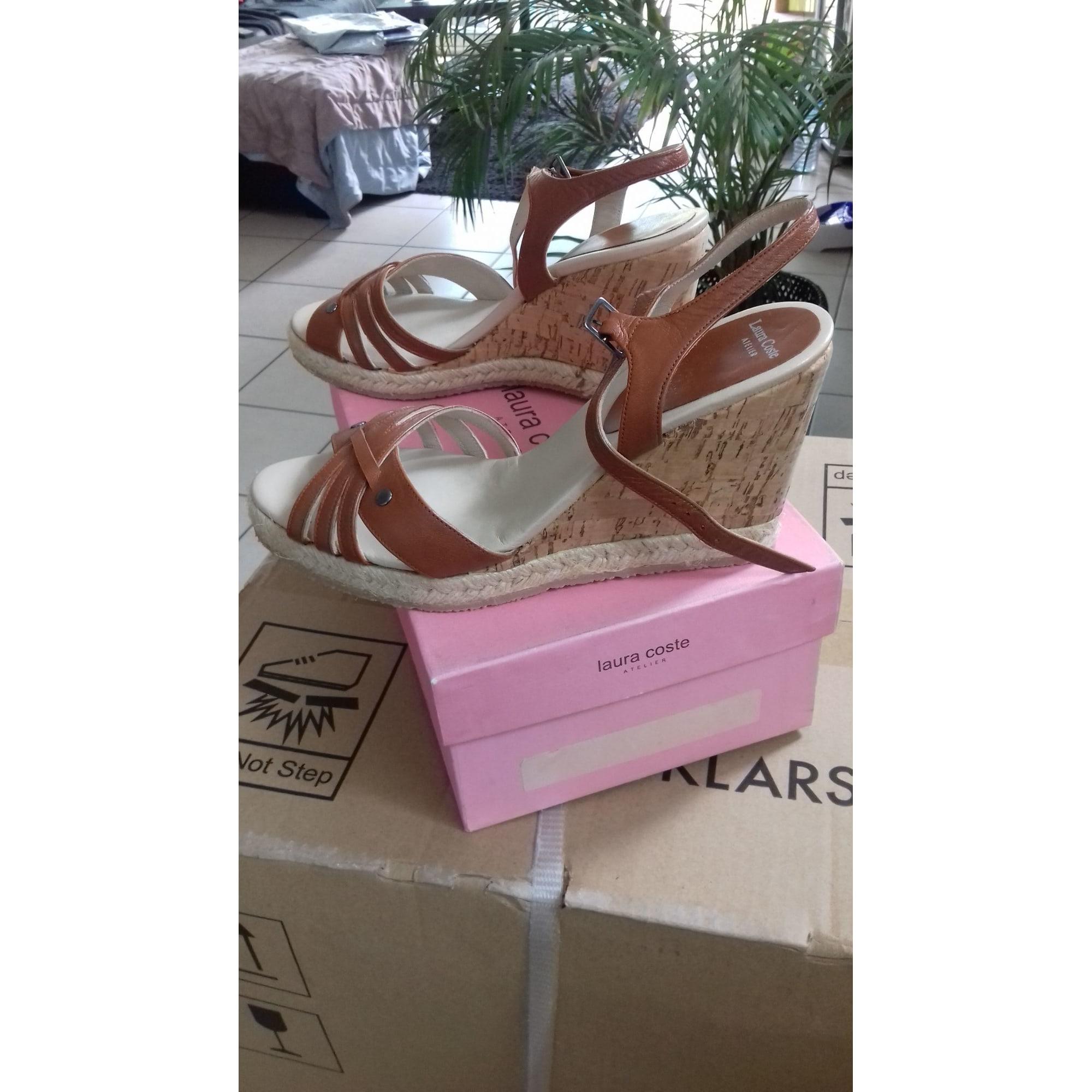 Sandales Compensées Coste 38 Marron 7844759 Laura EYb2IeH9WD
