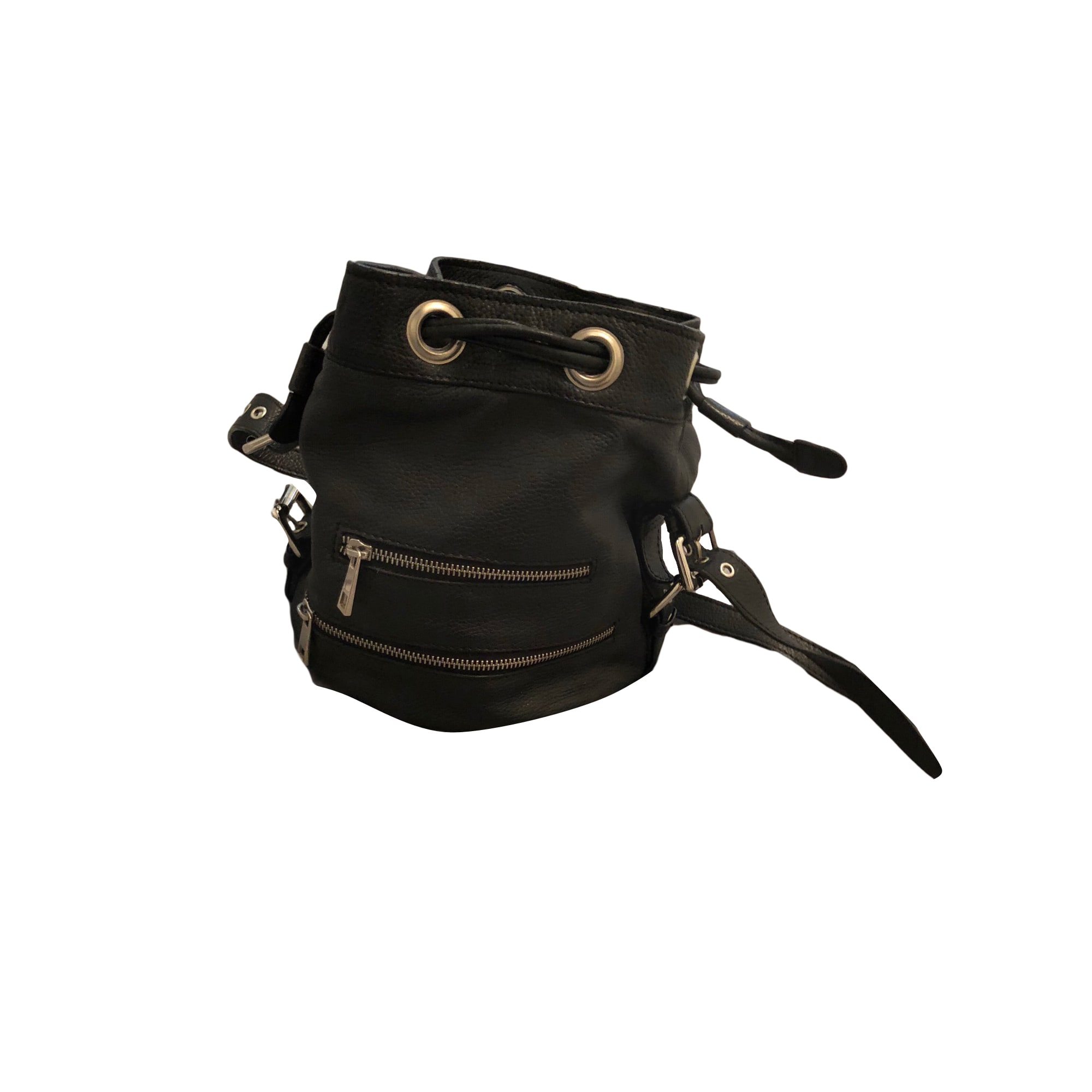 Leather Handbag BA&SH Black