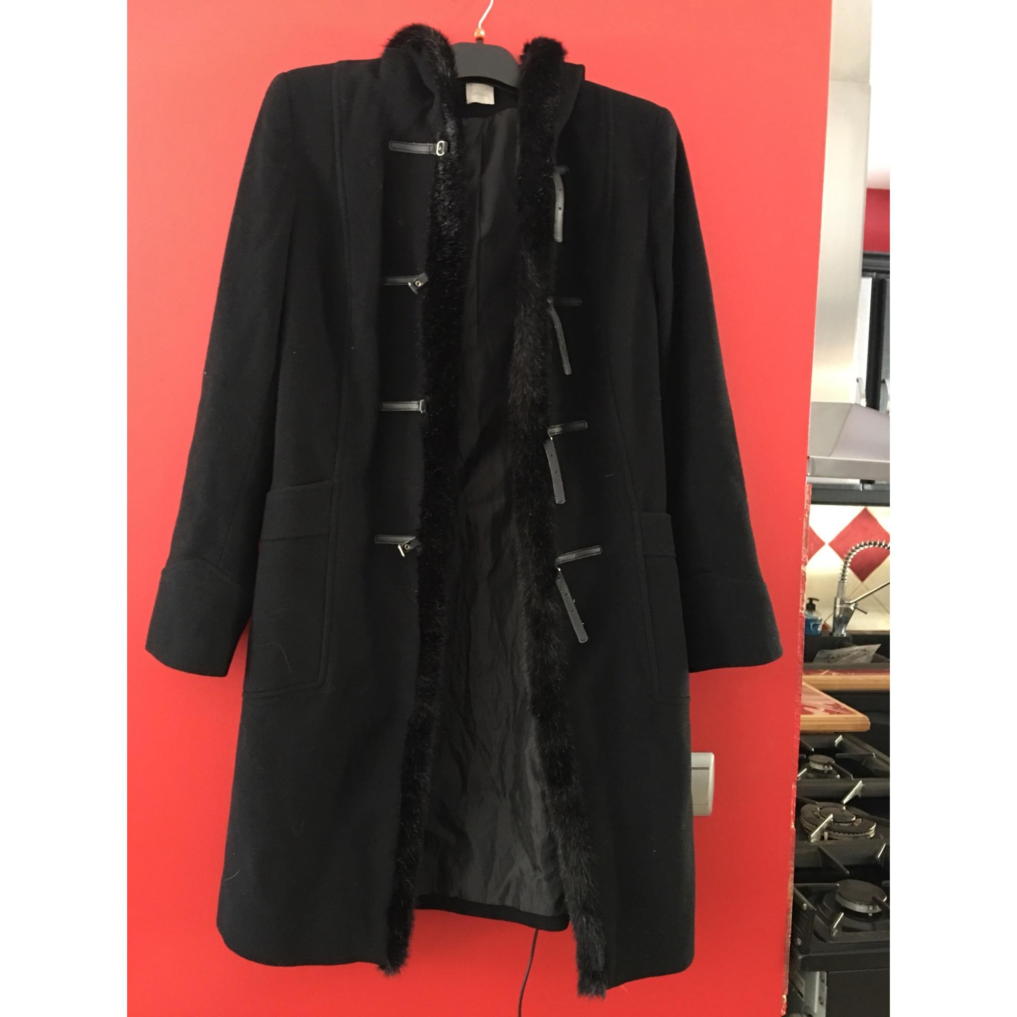 Manteau noir camaieu