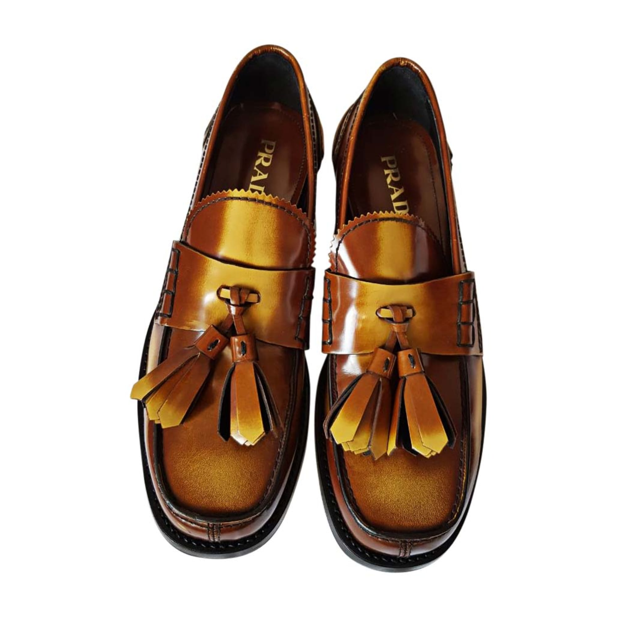 c8fe409f03e ... sweden loafers prada brown e899c 9b1db