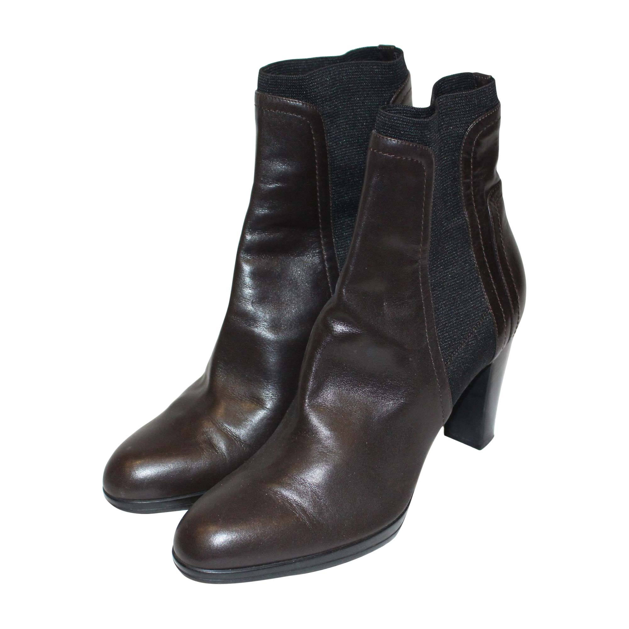 7195ca29b4f1 High Heel Ankle Boots SERGIO ROSSI Brown