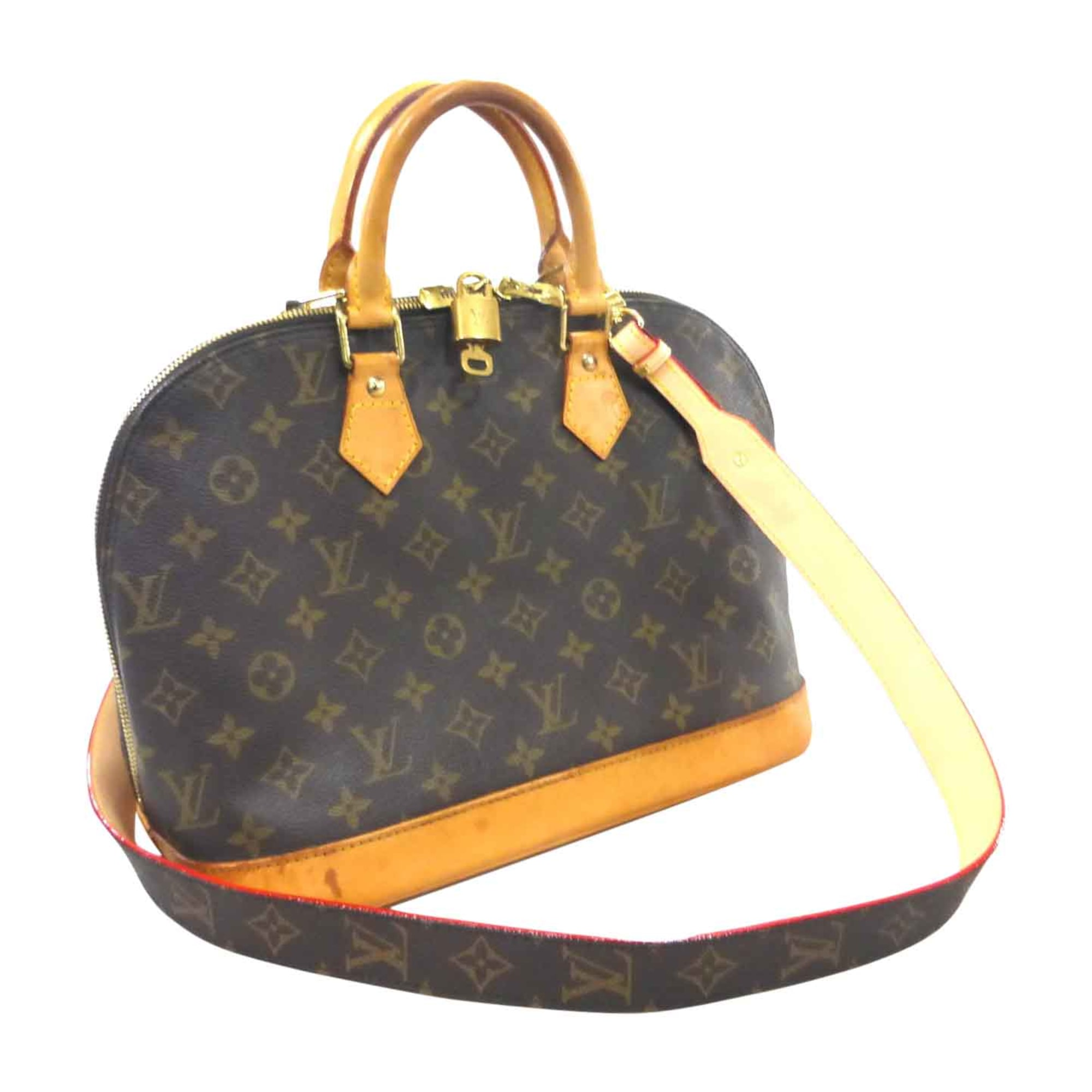 3d169082a71e Sac à main en cuir LOUIS VUITTON alma marron - 7860954