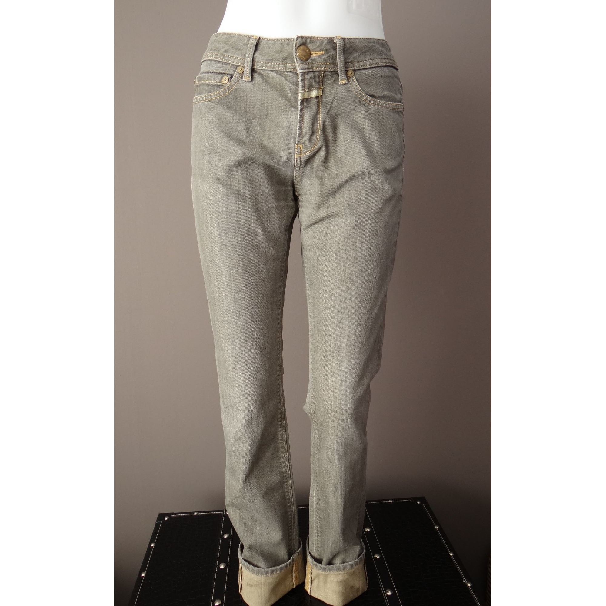 Straight-Cut Jeans  CLOSED Grau, anthrazit