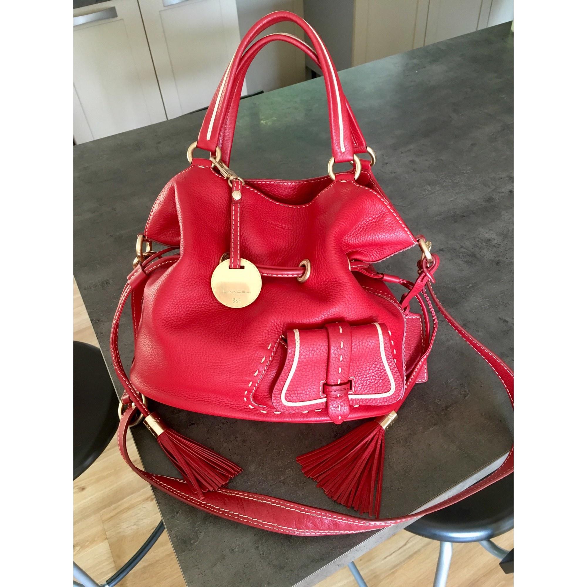 Lancel in venduta Xl pelle da Stardust07 Borsa 7867571 rossa dFwf5Adq