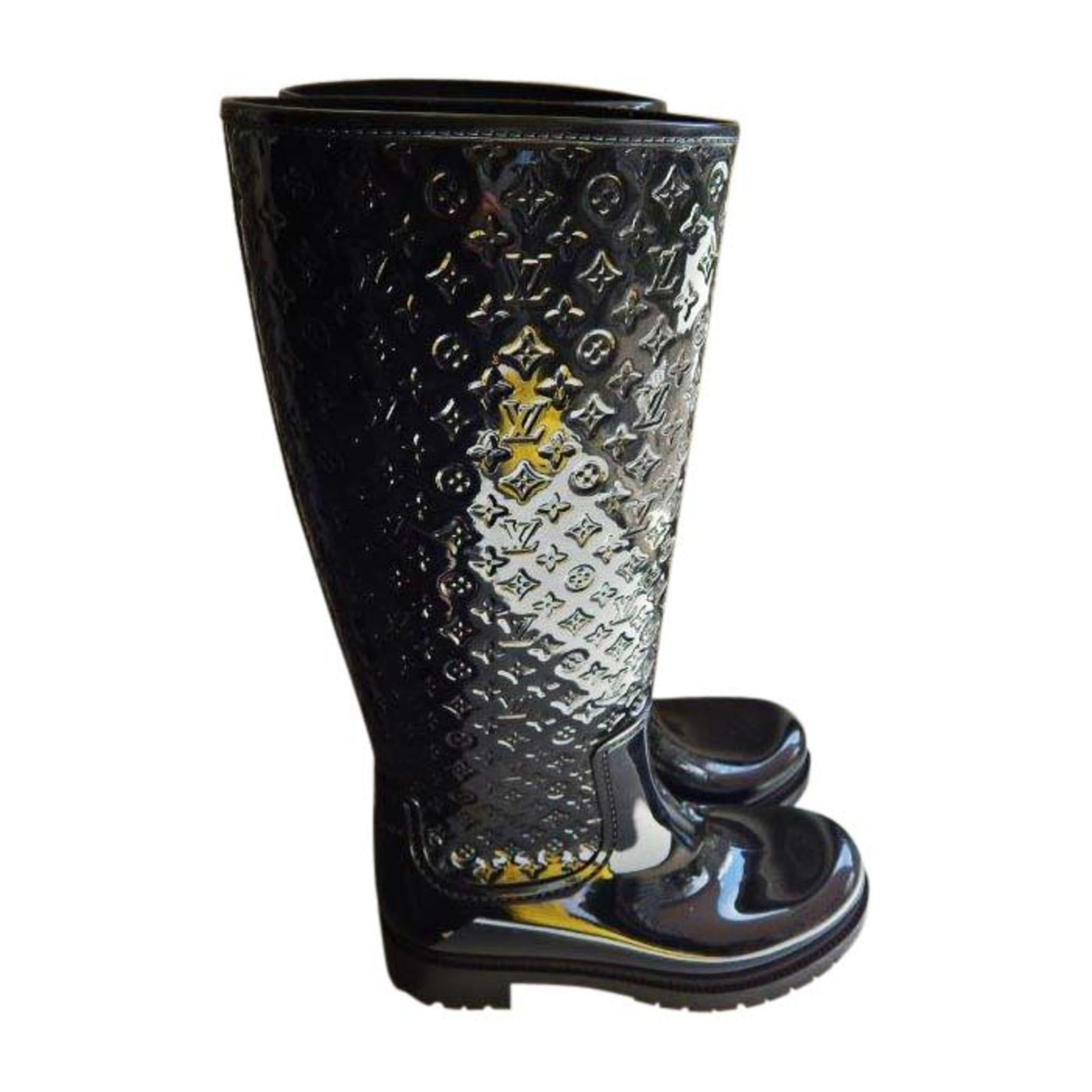 Bottes de pluie LOUIS VUITTON 38 noir vendu par Liselux - 7868516 9998377bcf5