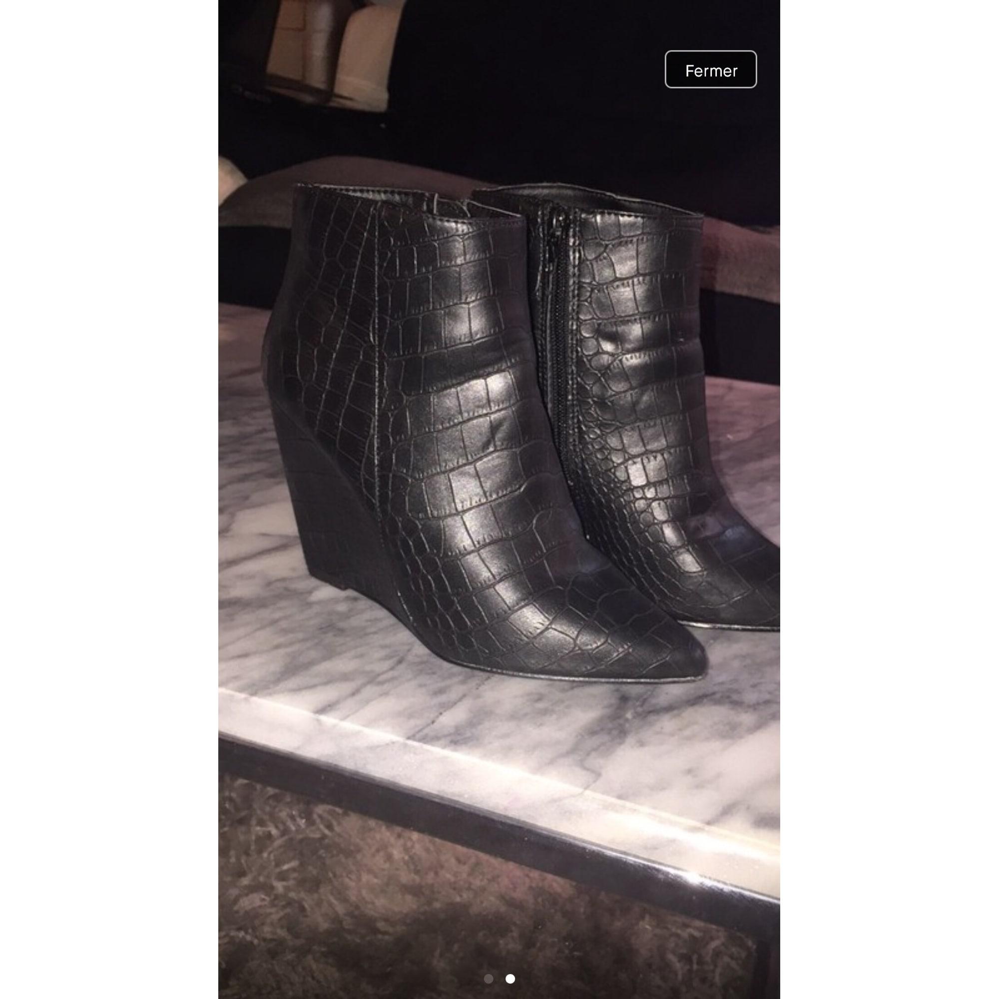 Bottines Low Boots A Compenses Kiabi 36 Noir 7876153