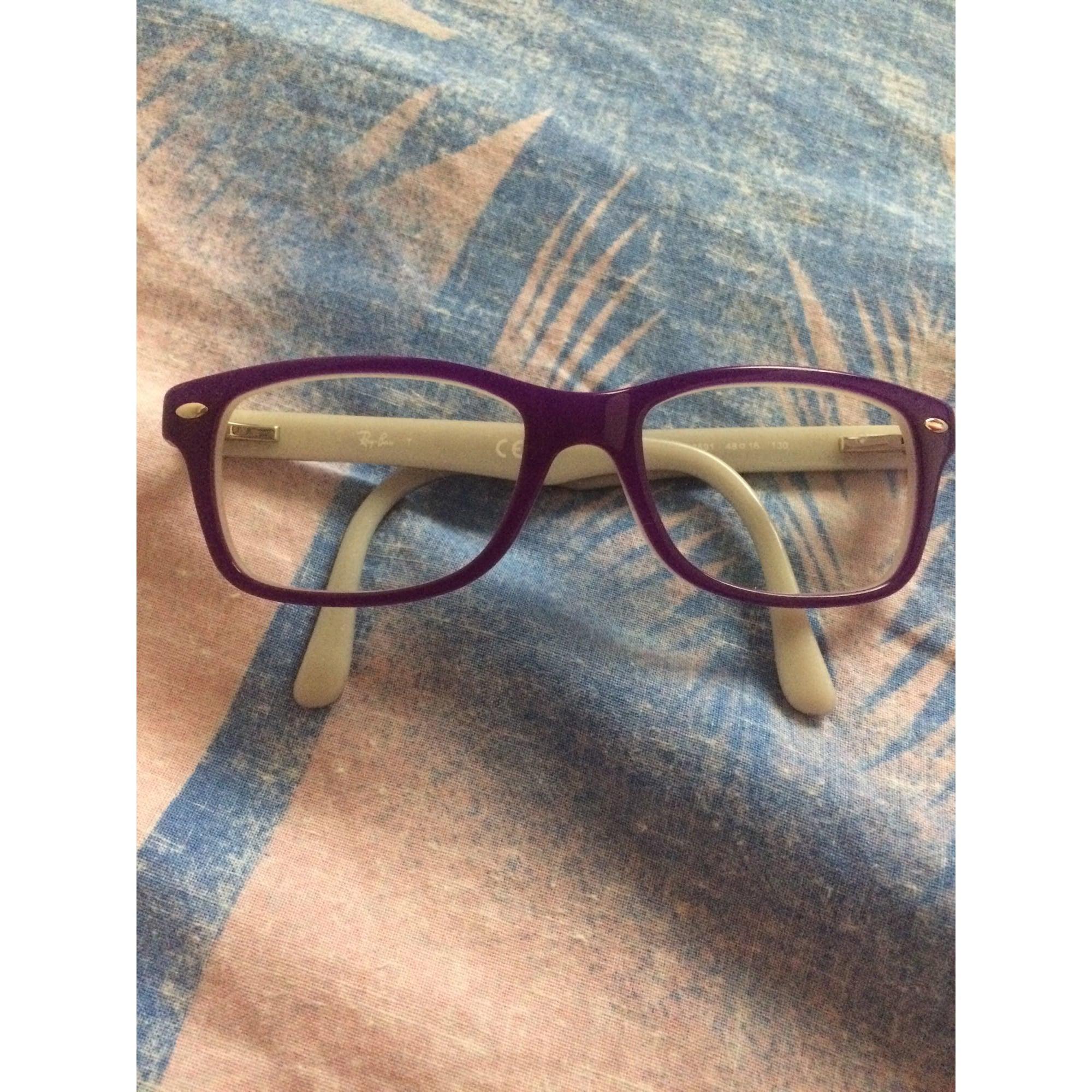 2ec4cc52cce42b Monture de lunettes RAY-BAN Autre violette et blanche - 7877077