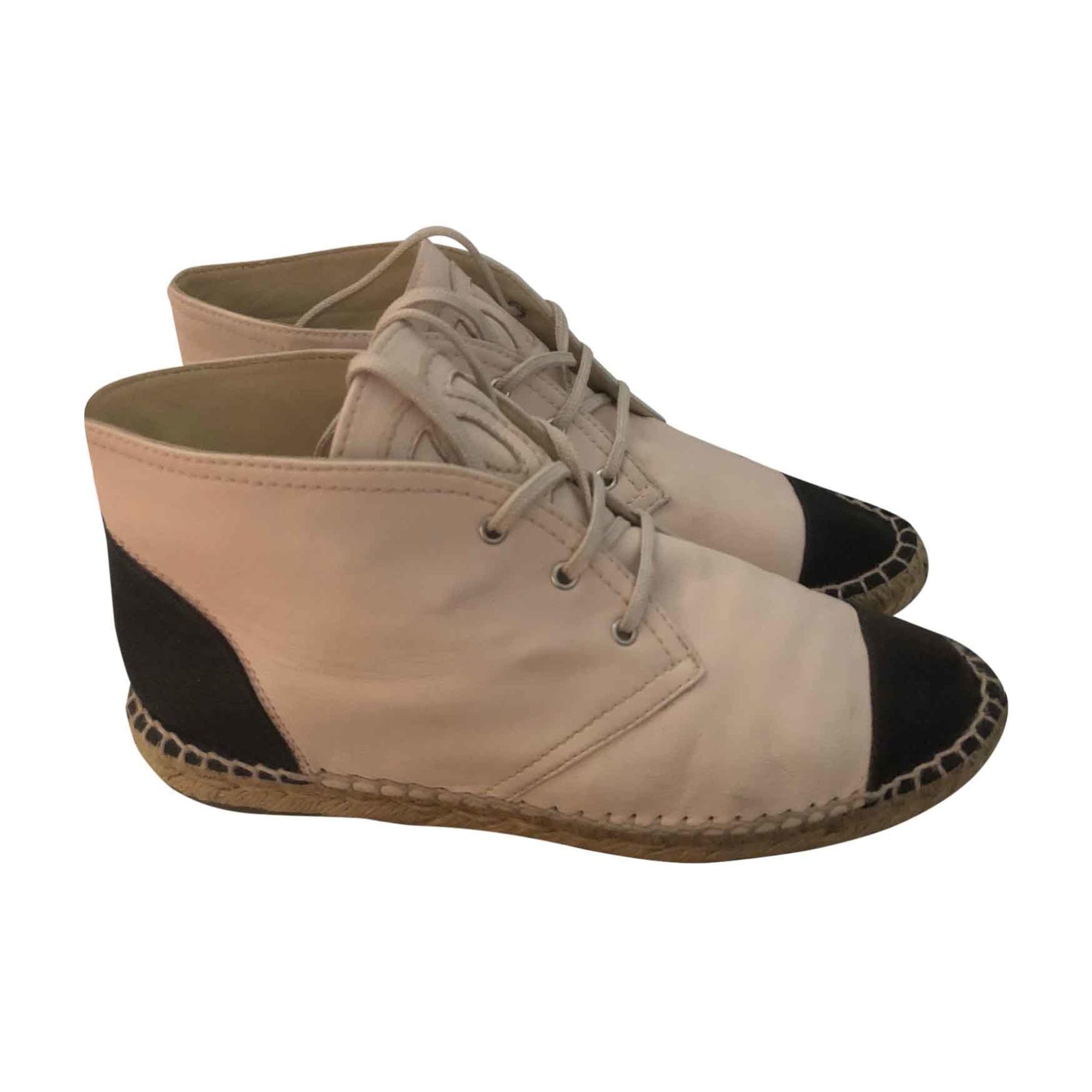 Chaussures à lacets CHANEL 39 beige - 7881805 2249d2fbeb4