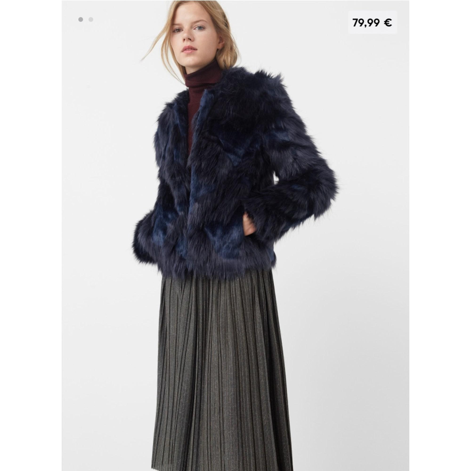 Manteau en fourrure MANGO 36 (S, T1) bleu vendu par Sophiaxsoso ... b6900113abc1
