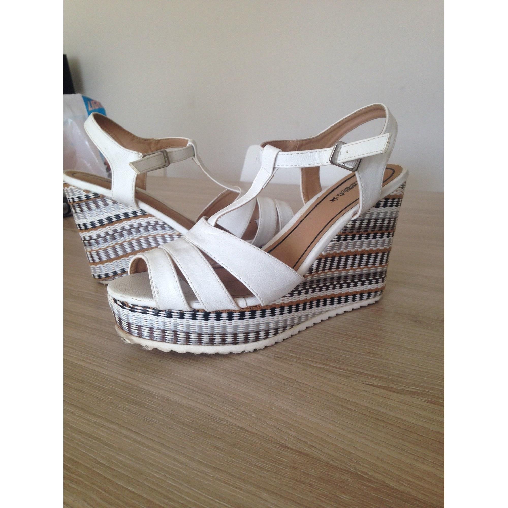 Sandales 40 Compensées Chaussea Blanc 7882586 Psqugmlzv E2IDeYHW9