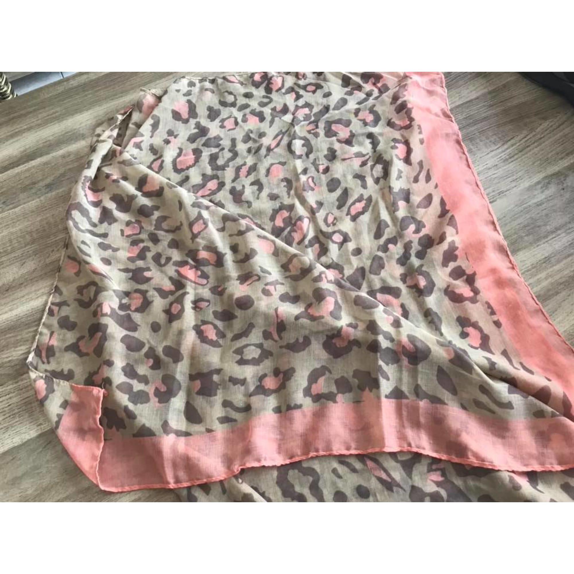 Foulard NAF NAF gris et rose - 7883064 79c6524eeca