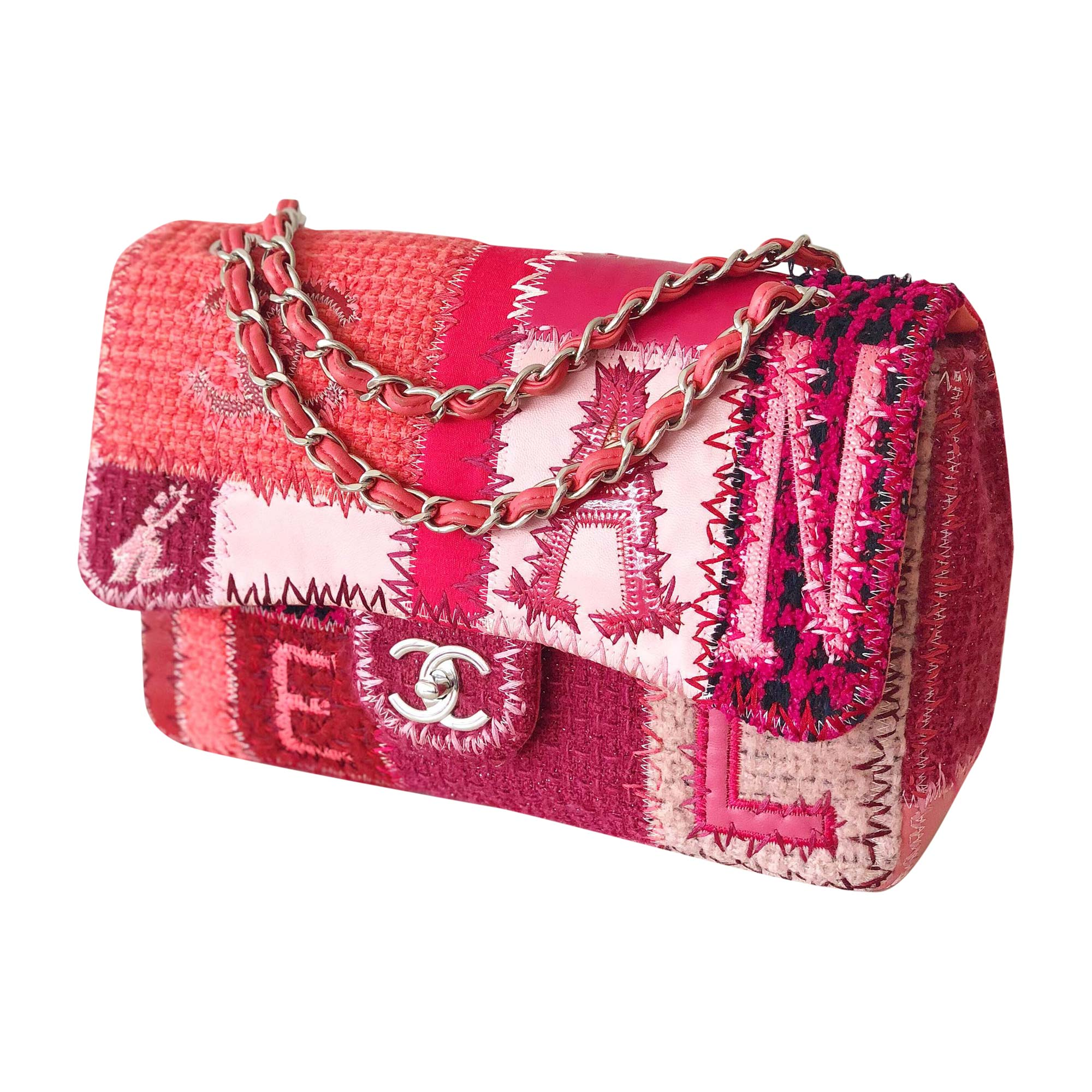 cd675d70dcc Sac à main en tissu CHANEL rose - 7884647