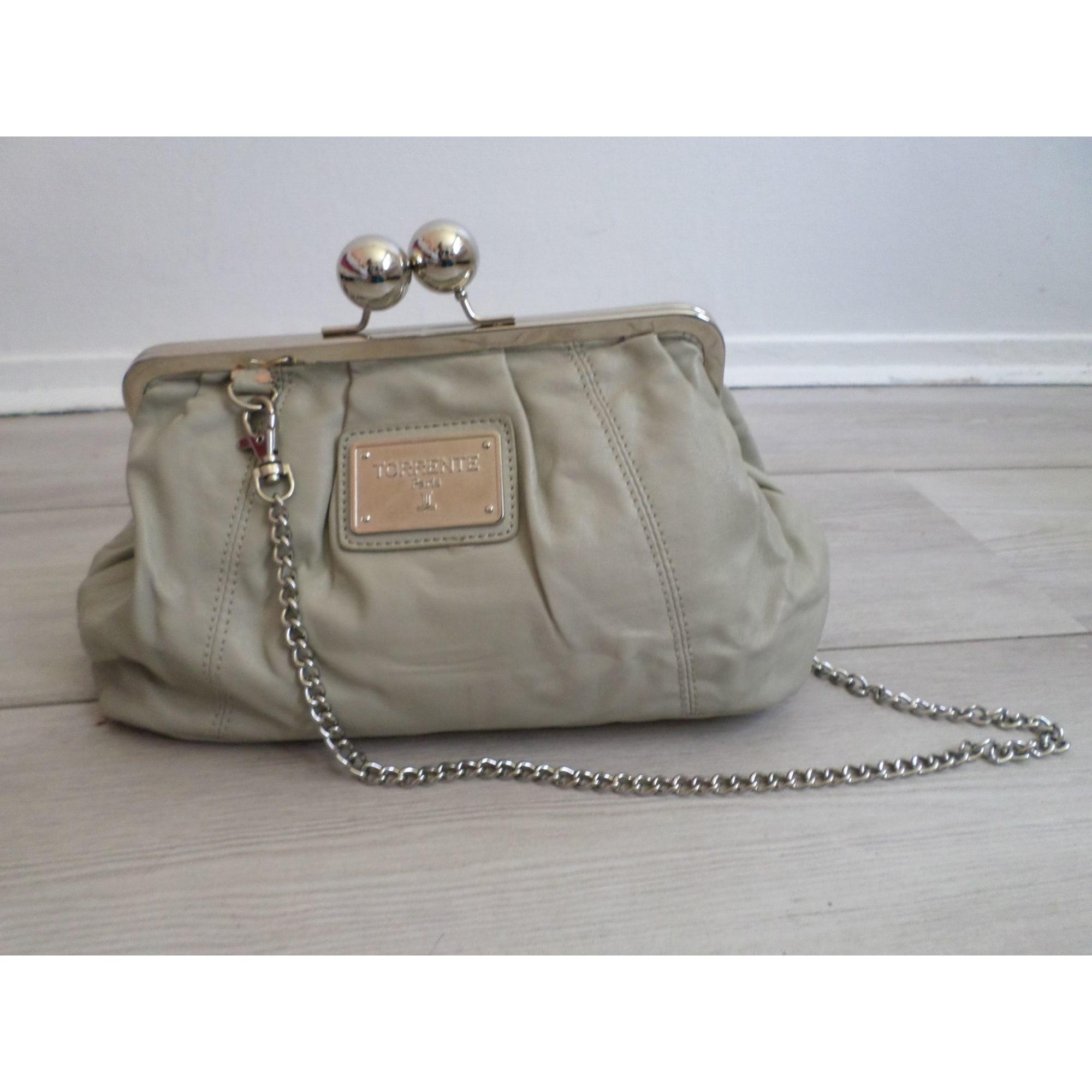 3c847db81e Sac en bandoulière en cuir TORRENTE gris vendu par Nani - 7891545