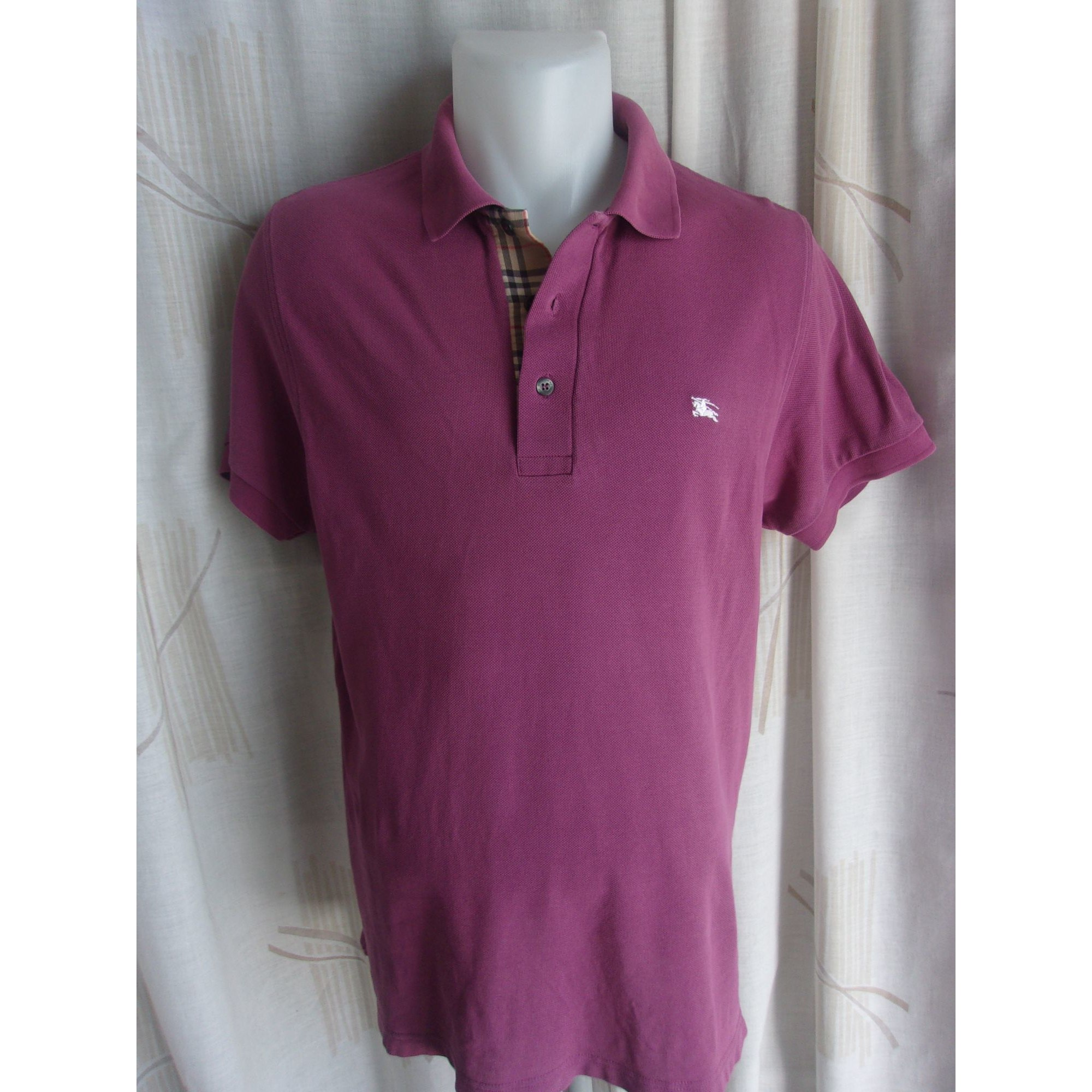 f095fde9116 Polo BURBERRY 2 (M) violet vendu par France mode - 7897780