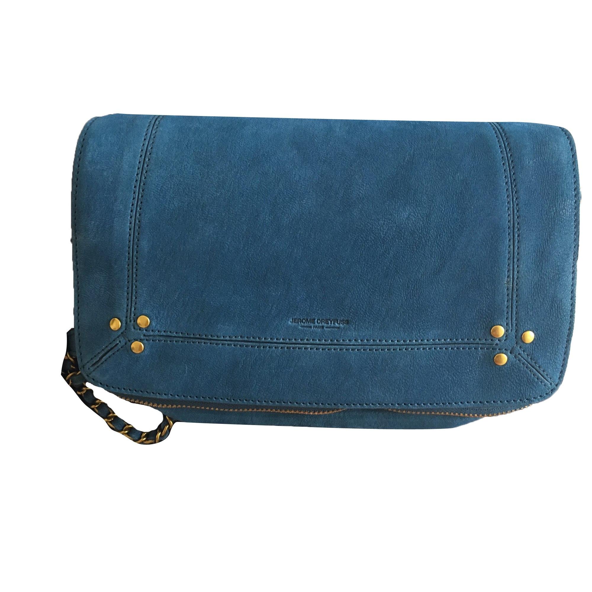 Leather Shoulder Bag JEROME DREYFUSS Blue, navy, turquoise